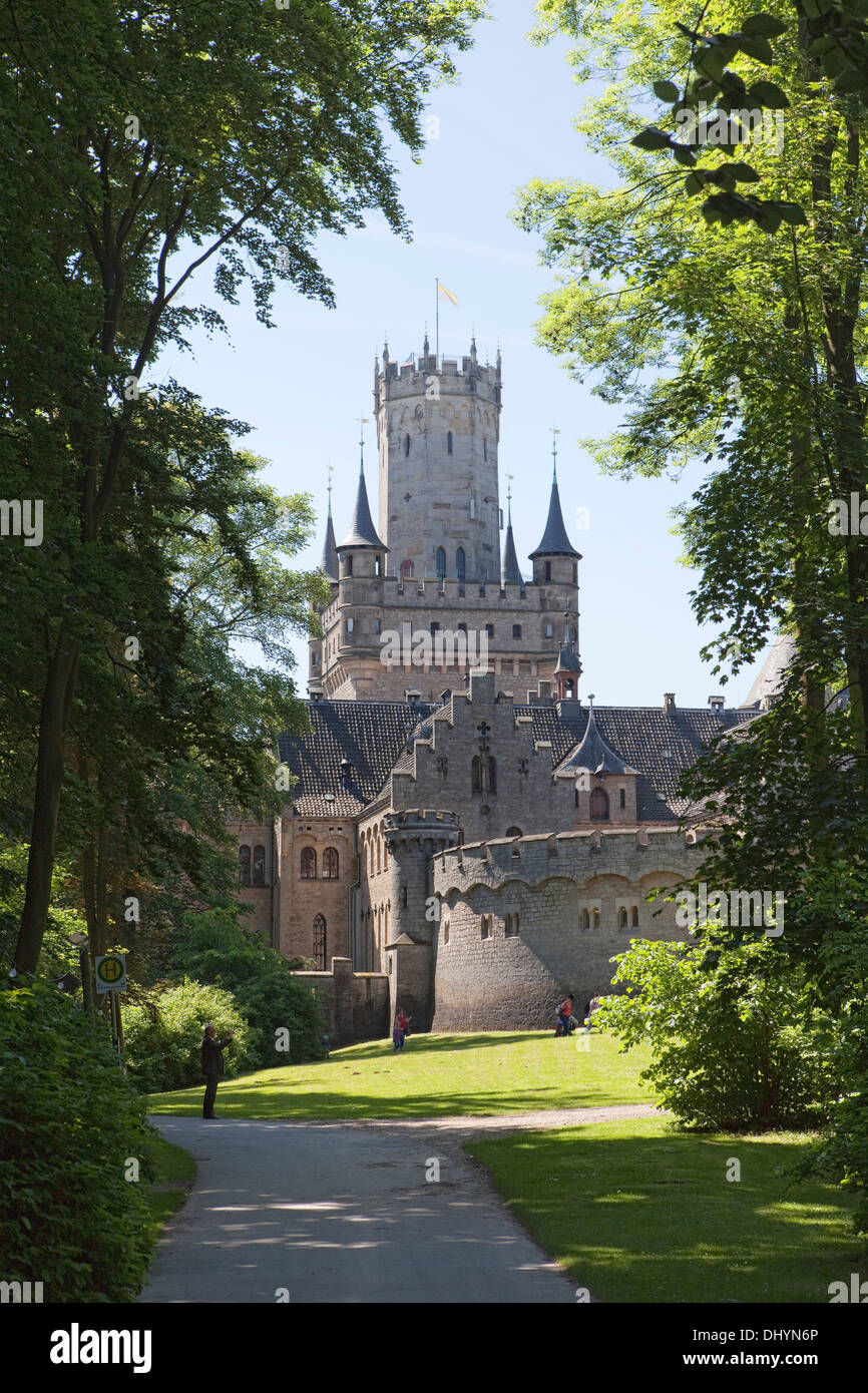 Marienburg Castle, Pattensen near Hannover, Lower Saxony, Germany, Europe, Stock Photo