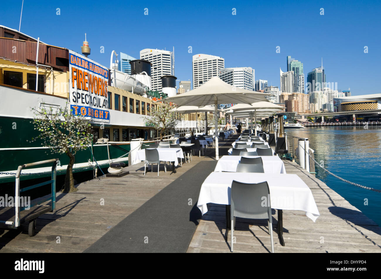 South Steyne Floating Restaurant, Darling Harbour, Sydney, Australia - Stock Image