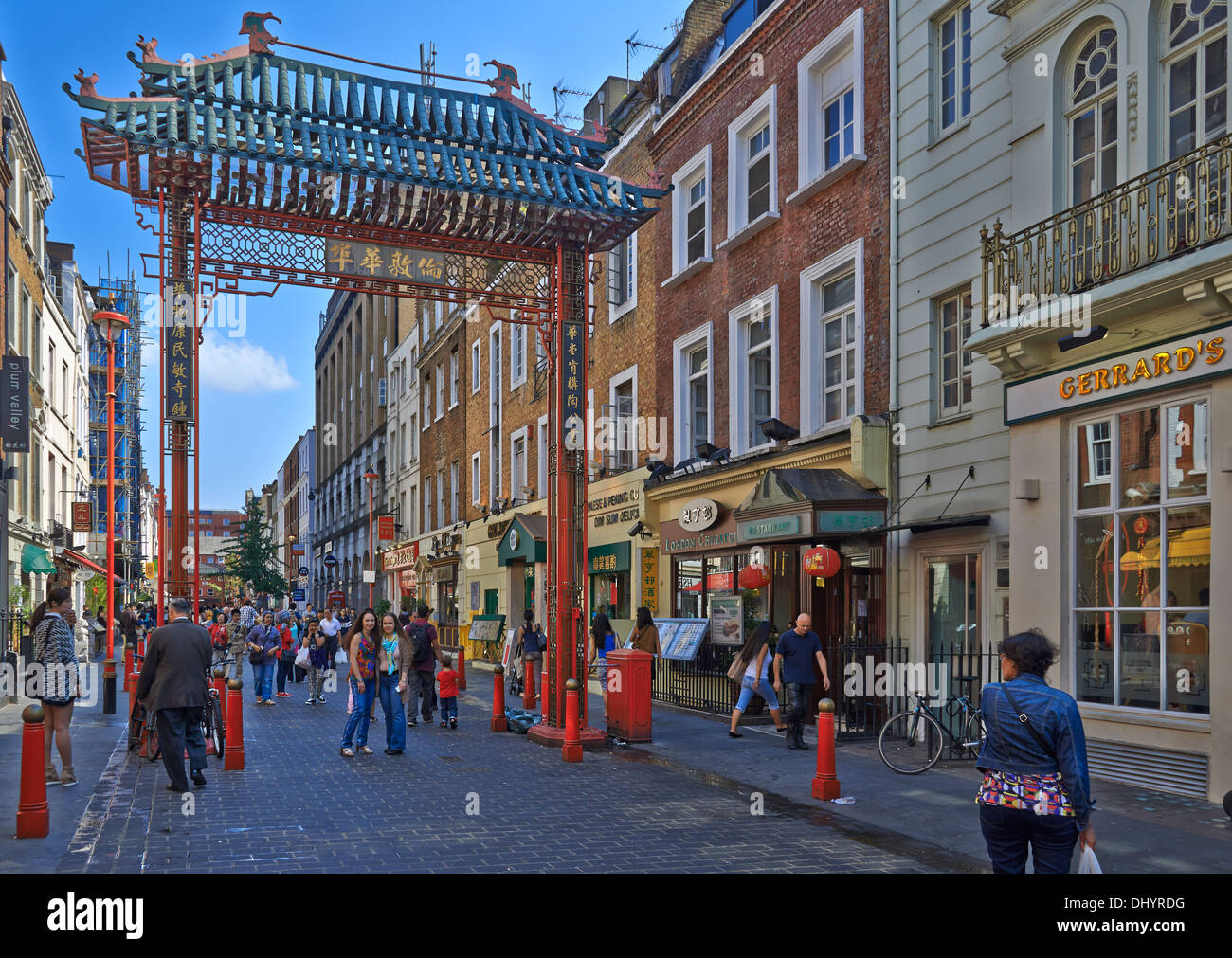China Town London: The name Chinatown has been used at different times to describe different places in London - Stock Image
