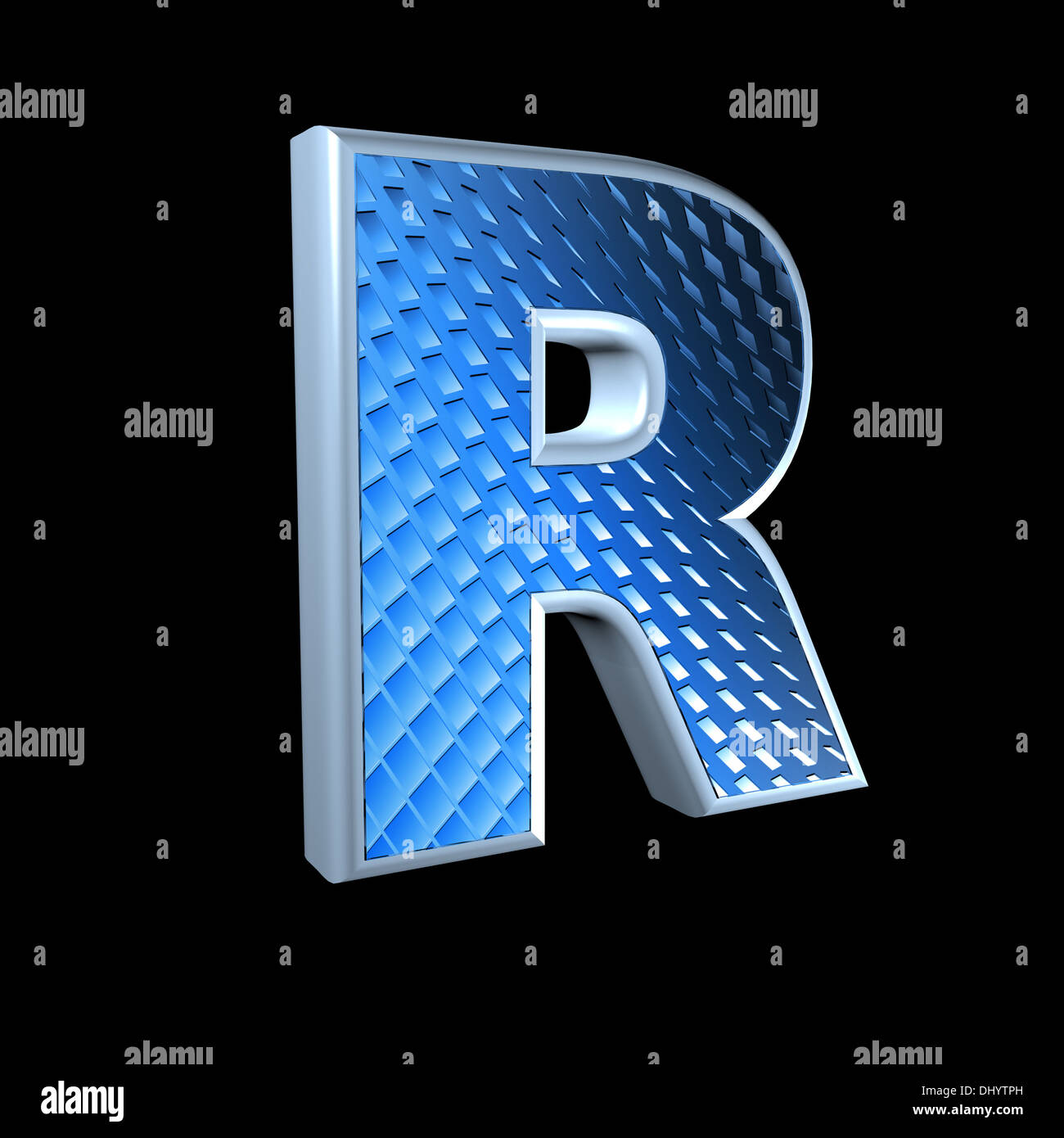 Abstract 3d letter with blue pattern texture r stock photo abstract 3d letter with blue pattern texture r thecheapjerseys Image collections