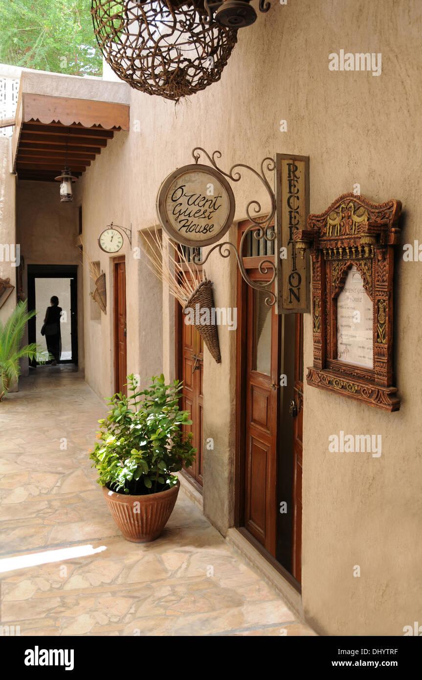 Orient Guest House, Al Bastakiya District, Dubai, United Arab Emirates - Stock Image
