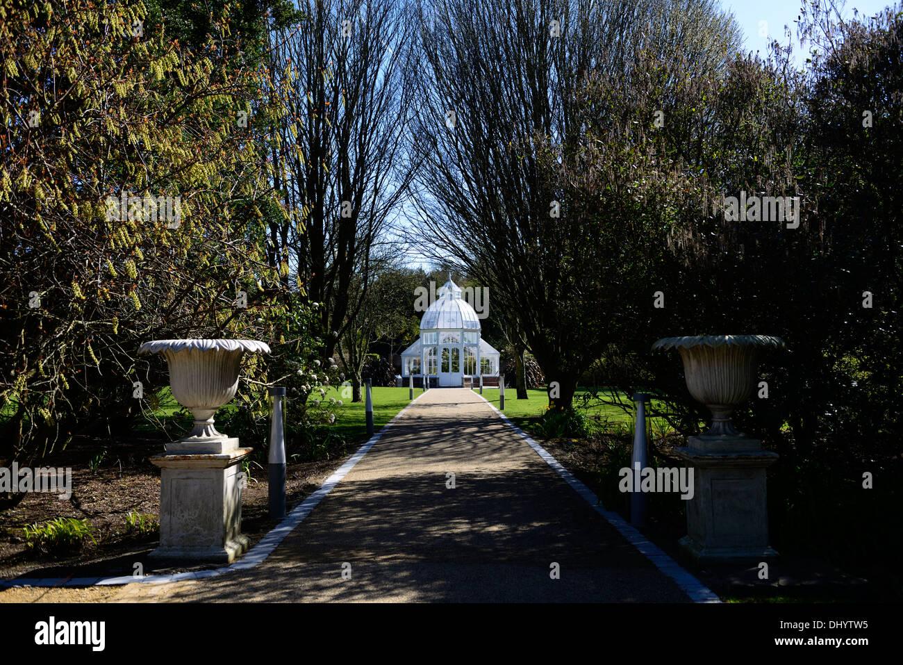 Malahide castle and Gardens Dublin ireland talbot botanic gardens glass house greenhouse - Stock Image