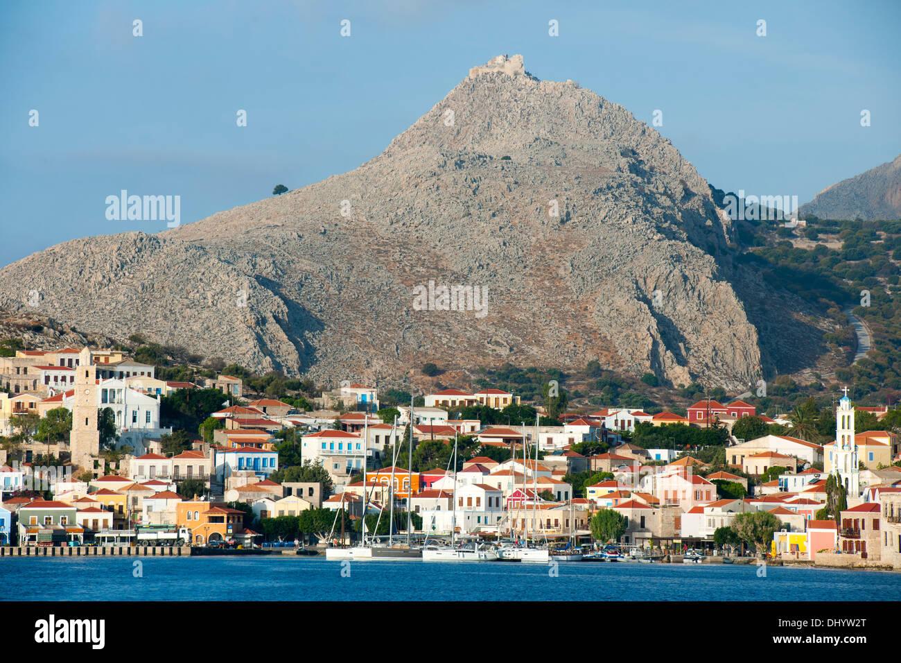 Griechenland, Dodekanes, Insel Chalki, Nimborio, Stock Photo