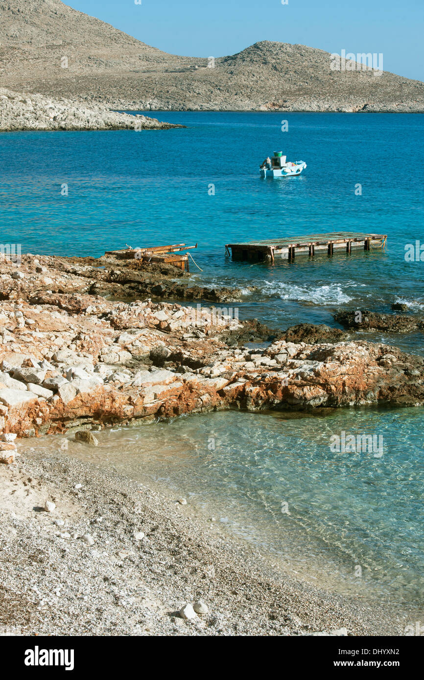 Griechenland, Dodekanes, Insel Chalki, Ftenagia-Strand Stock Photo