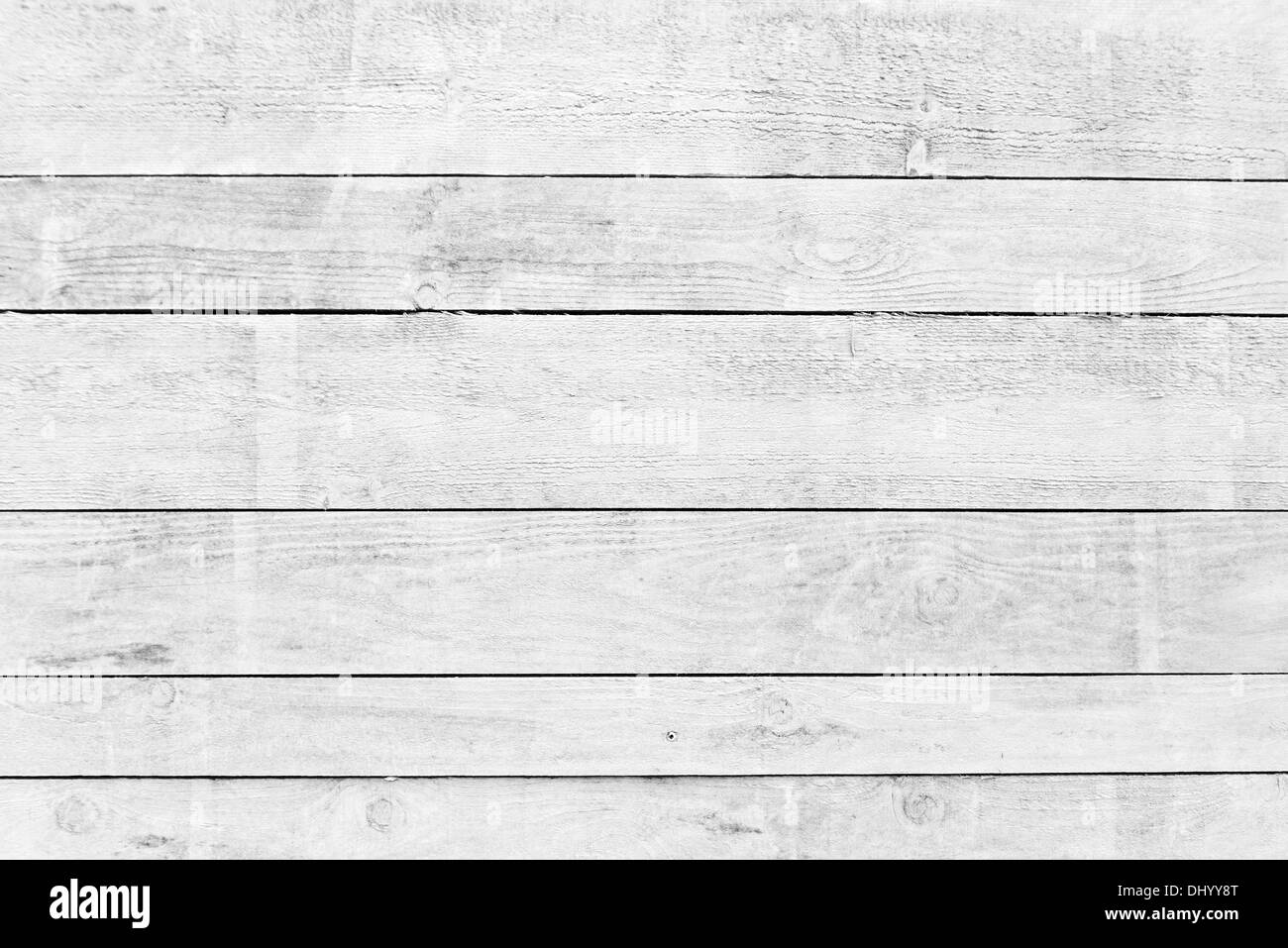 White wood planks texture with natural patterns background - Stock Image