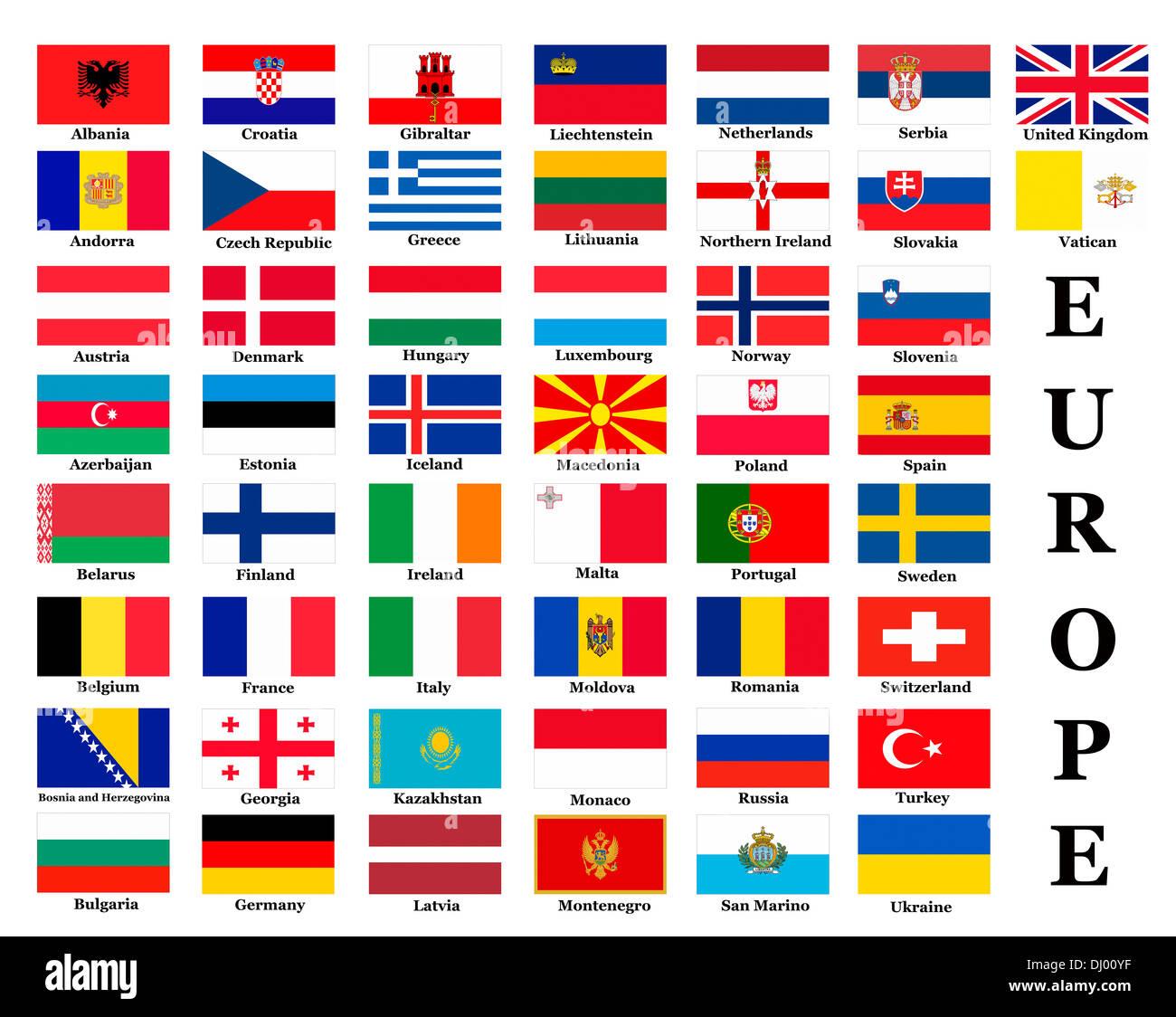 Nations of Europe Flag Flags T Shirt Albania Andorra Belarus Belgium Austria