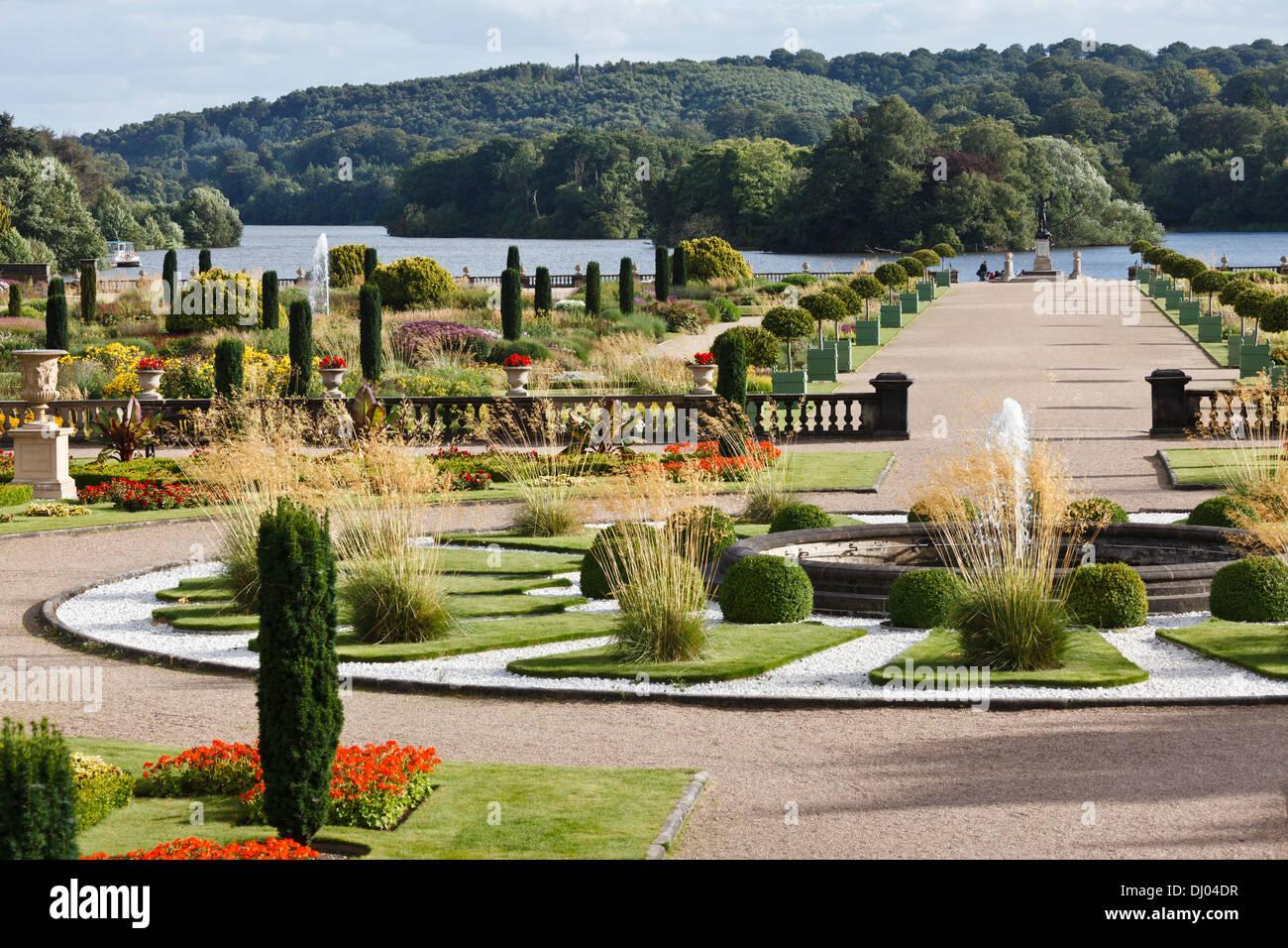 The Italian Gardens, Trentham Gardens, Stoke-on-Trent, Staffordshire - Stock Image