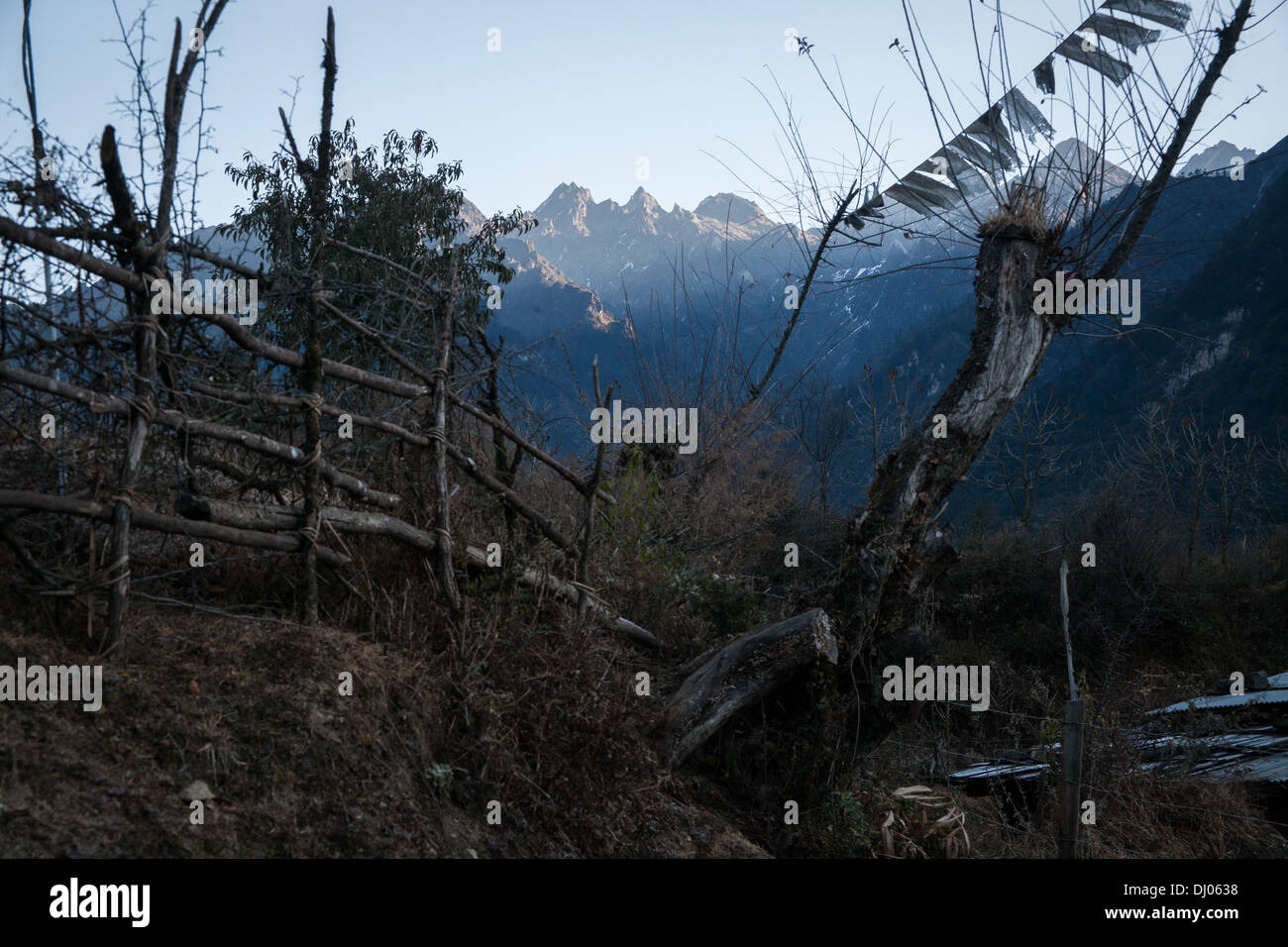 Bhutanese Himalayas Stock Photo