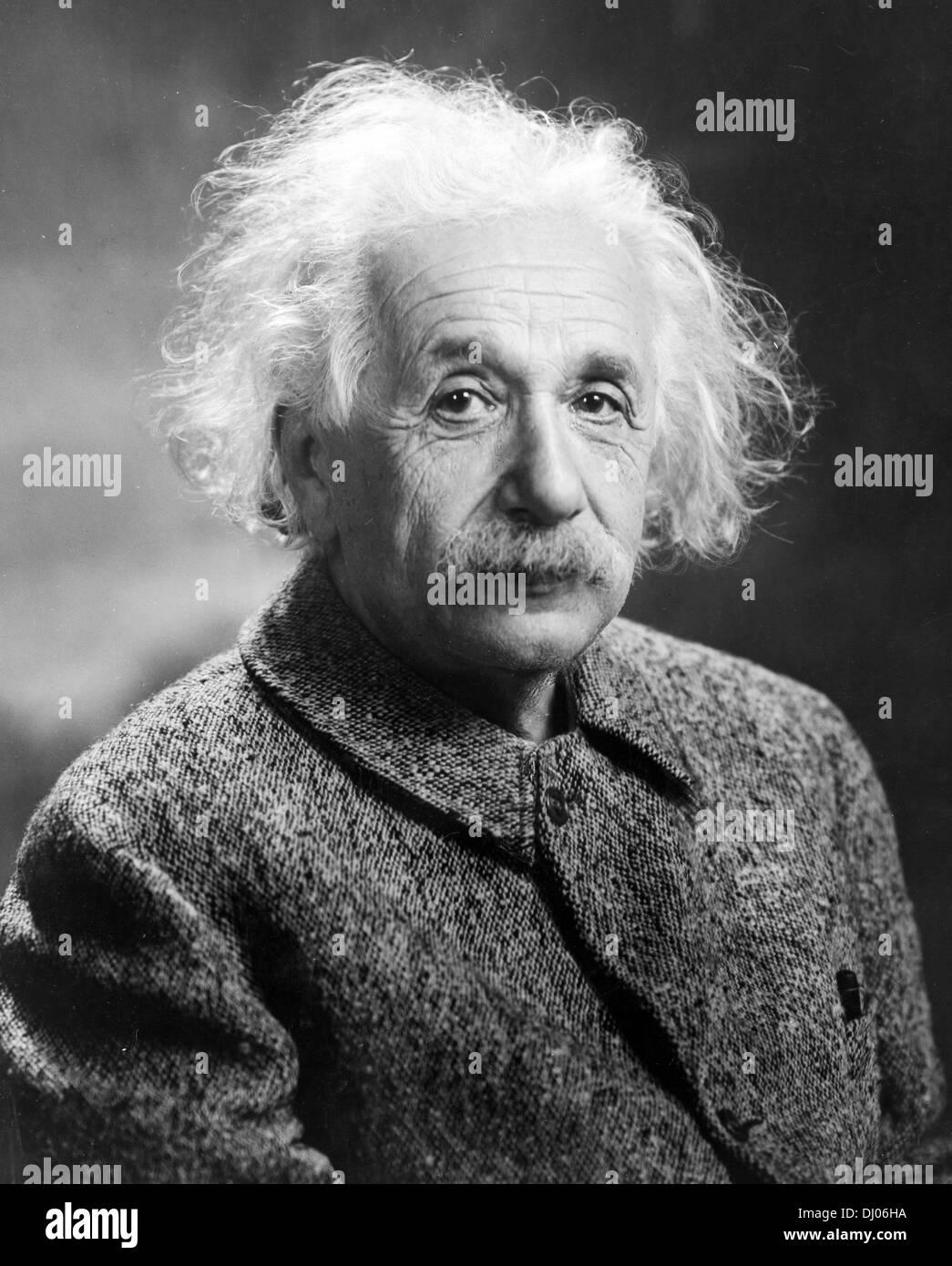Albert Einstein, German theoretical physicist - Stock Image