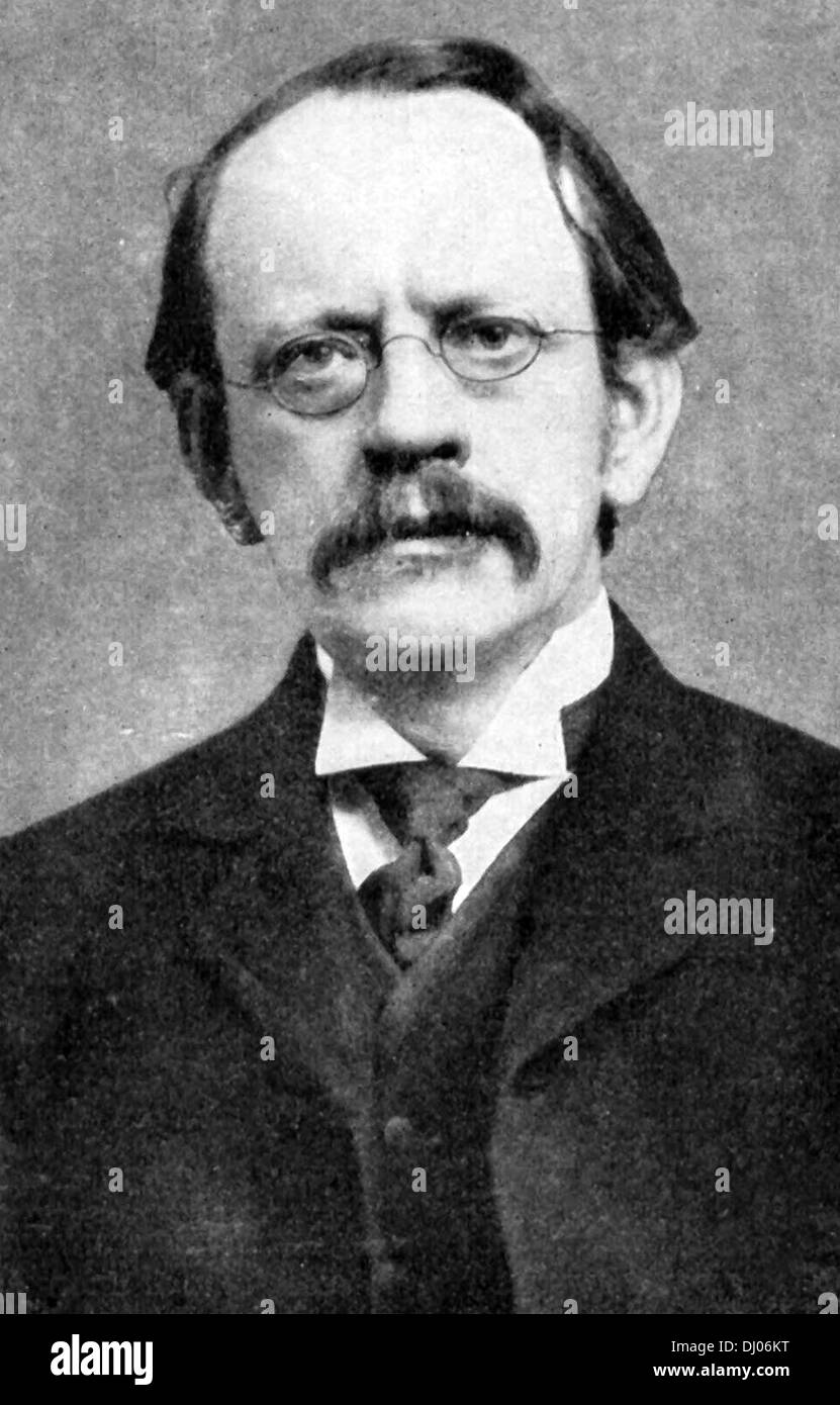 Sir Joseph John 'J. J.' Thomson, discovery and identification of the electron. - Stock Image