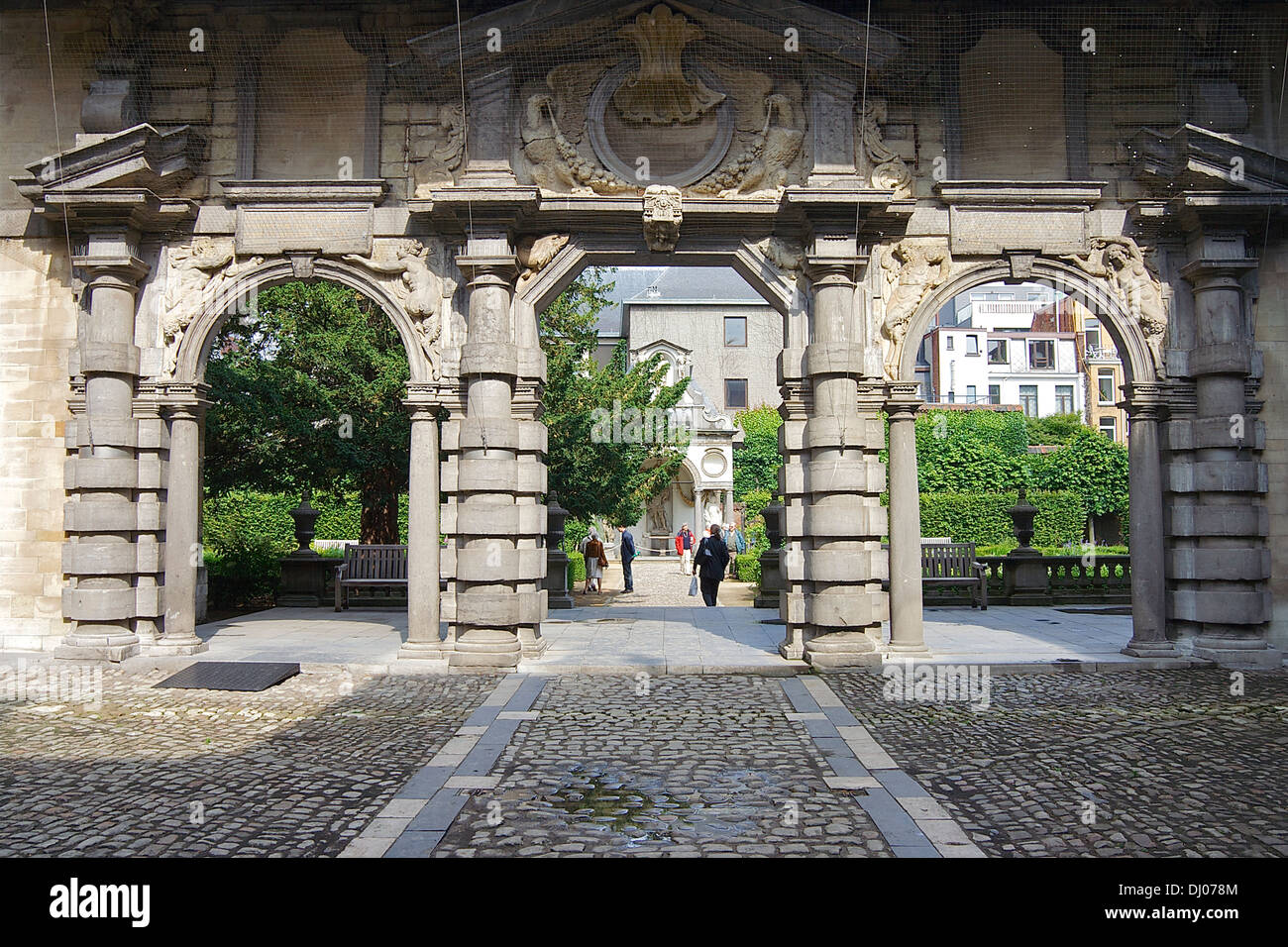 Portico of the Rubens House, which the painter bought in 1610. Antwerp, Belgium - Stock Image