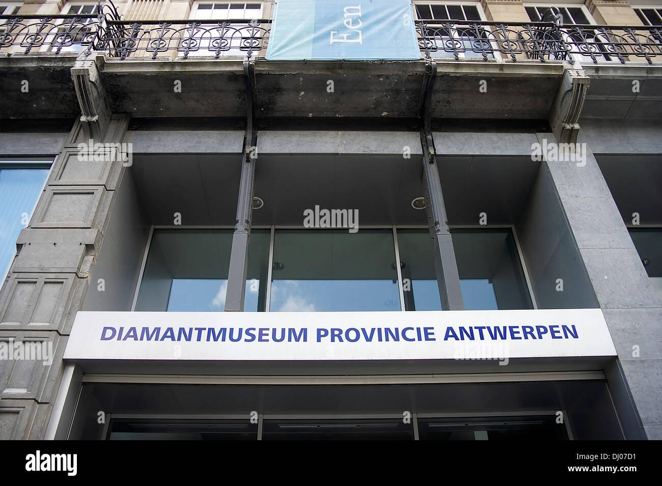 The Diamond Museum, in Antwerp's Diamond District Stock Photo