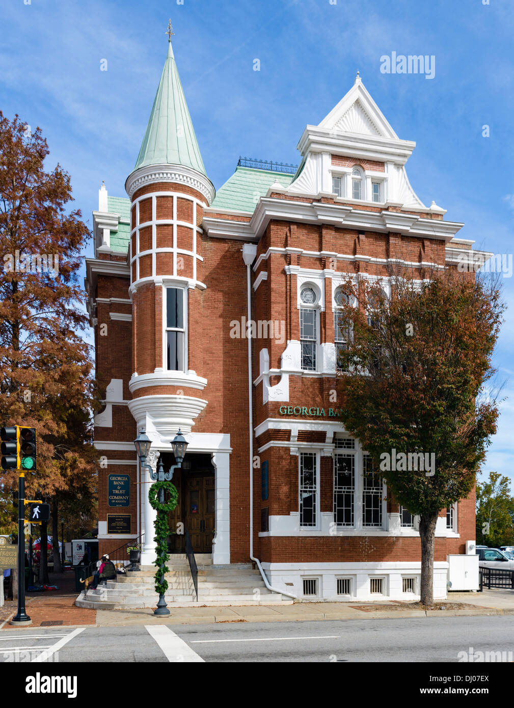 The historic Cotton Exchange Building on Reynolds Street in downtown Augusta, Georgia, USA Stock Photo