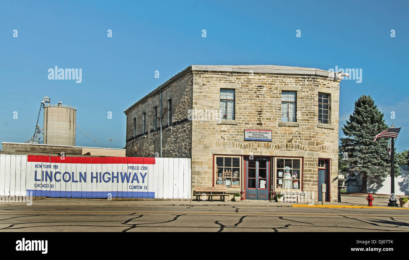 The Lincoln Highway National Association Headquarters in Frankfort, Illinois, a town along the Lincoln Highway - Stock Image