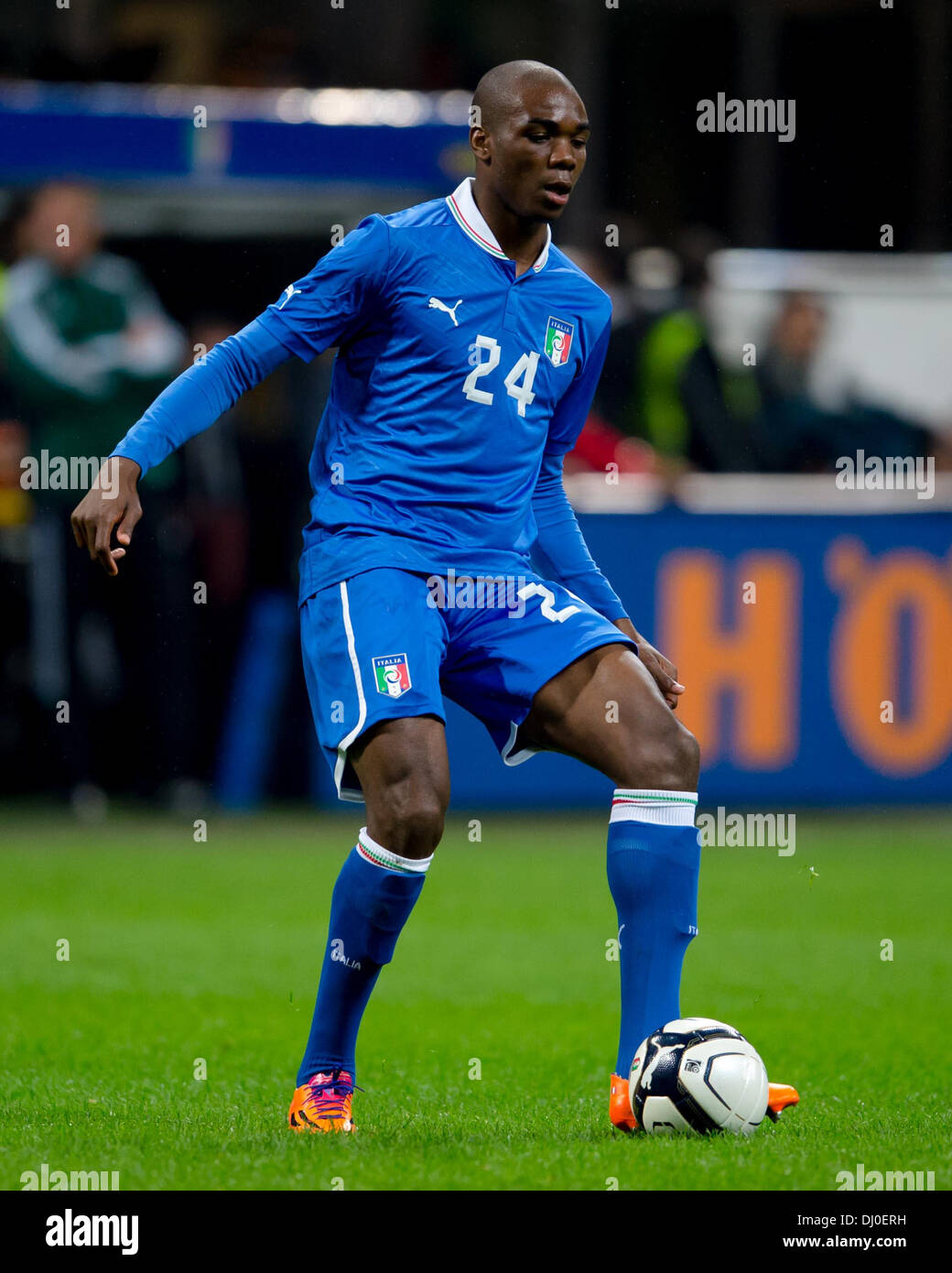 Milan, Italy. 15th Nov, 2013. Italy's Angelo Ogbonna in action during the friendly soccer match between Italy and Stock Photo