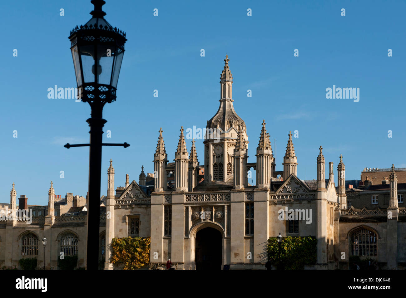 Cambridge, England. King's College, the University of Cambridge, England. 15_11_2013. The Main Gate. - Stock Image