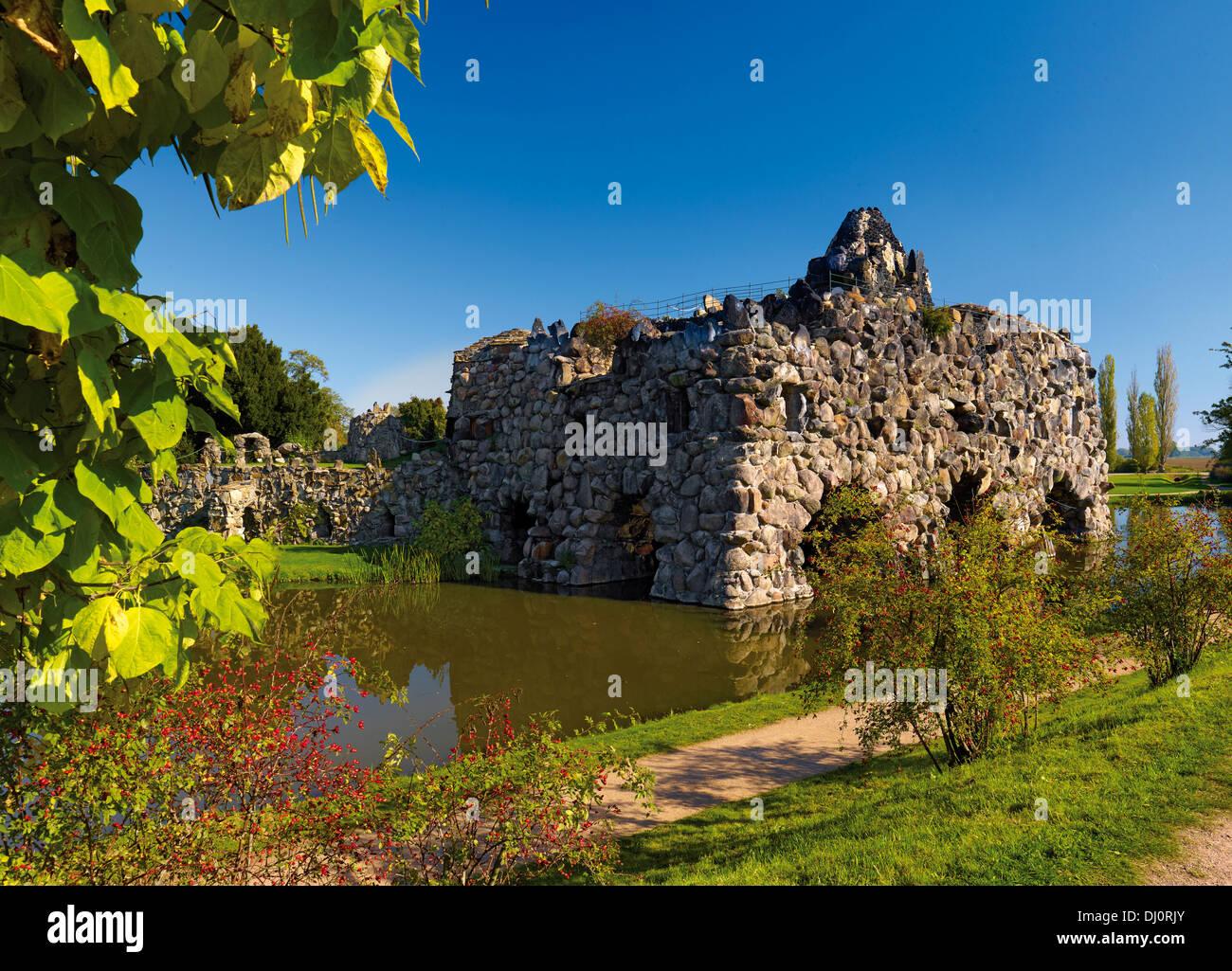 Rock island Stein, Wörlitz Park, Saxony-Anhalt, Germany - Stock Image