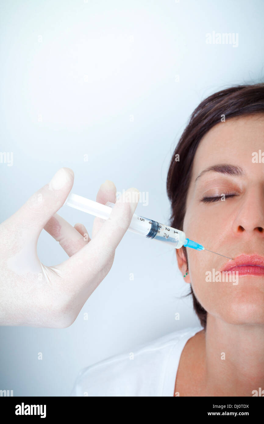 botox injection - Stock Image