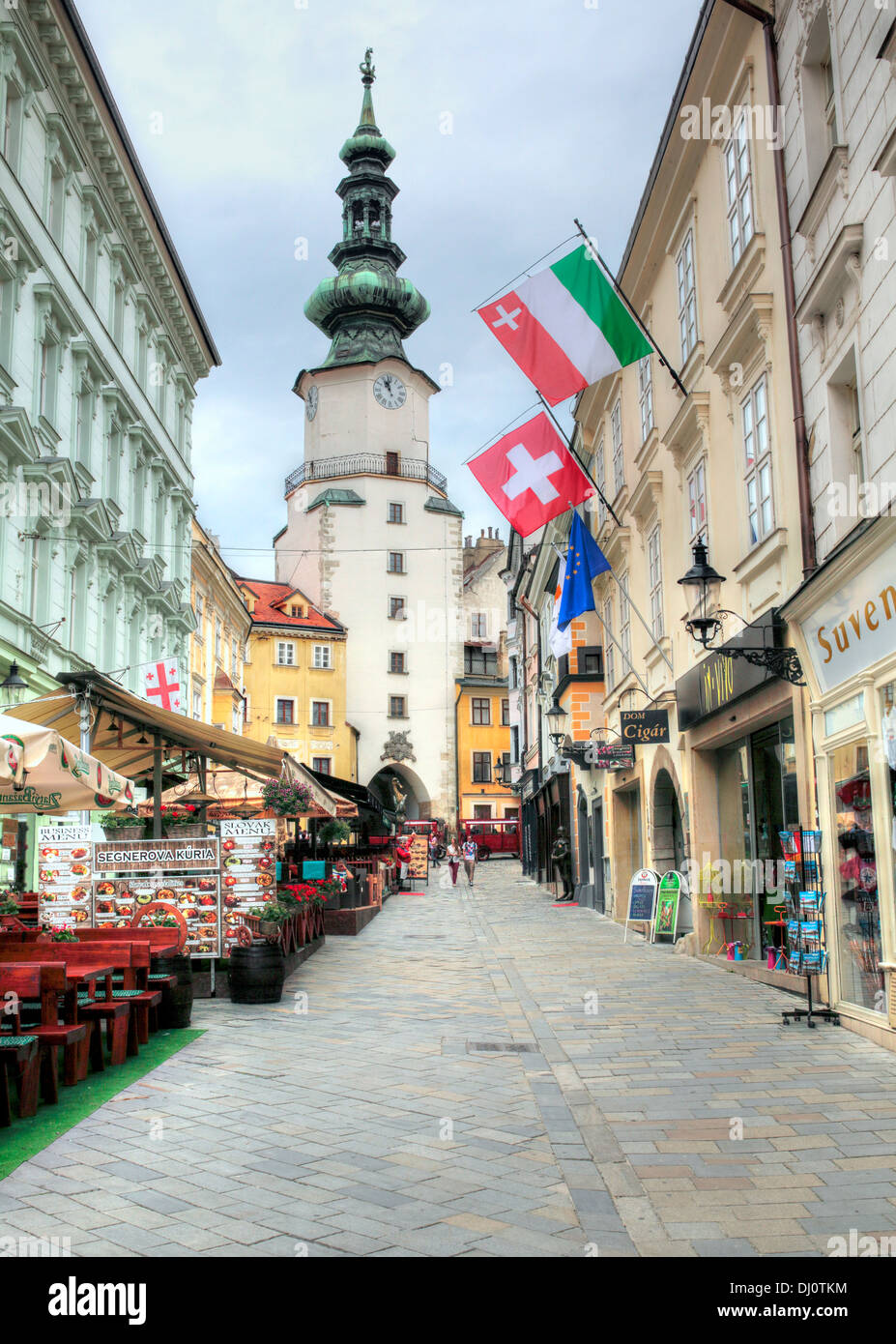 St. Michael Gate, Bratislava, Slovakia - Stock Image