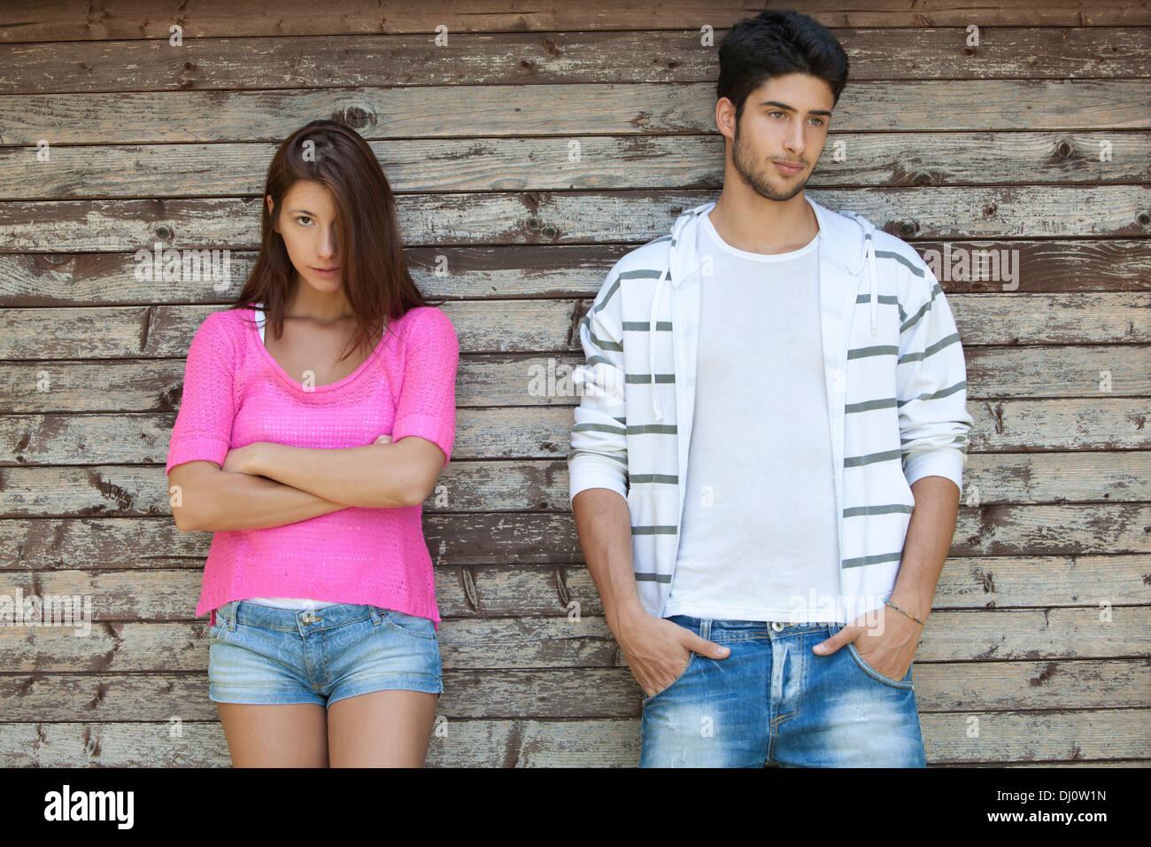 couple,quarrel - Stock Image