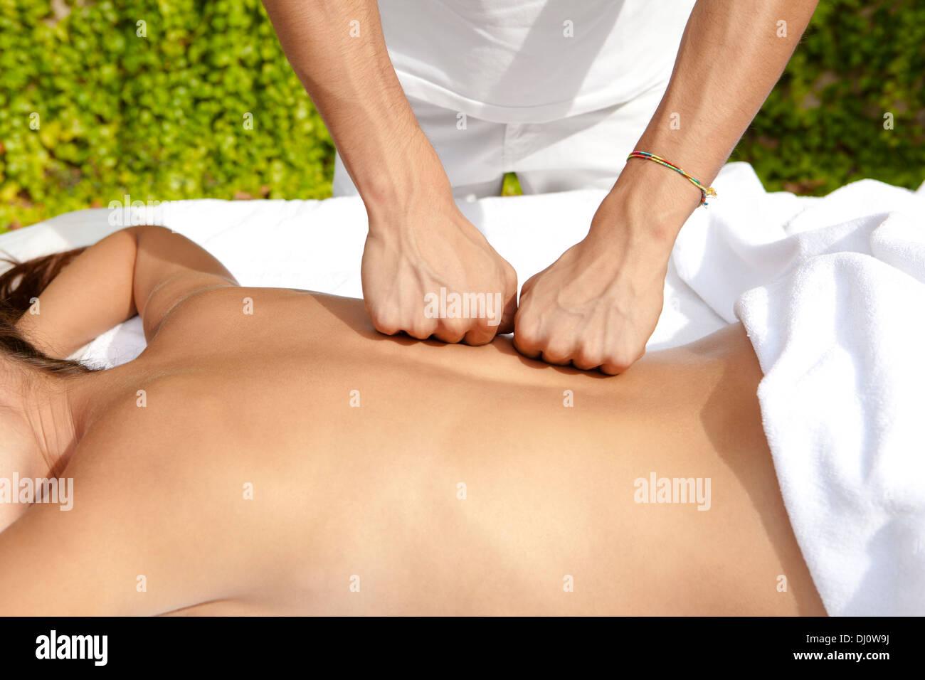 massage - Stock Image