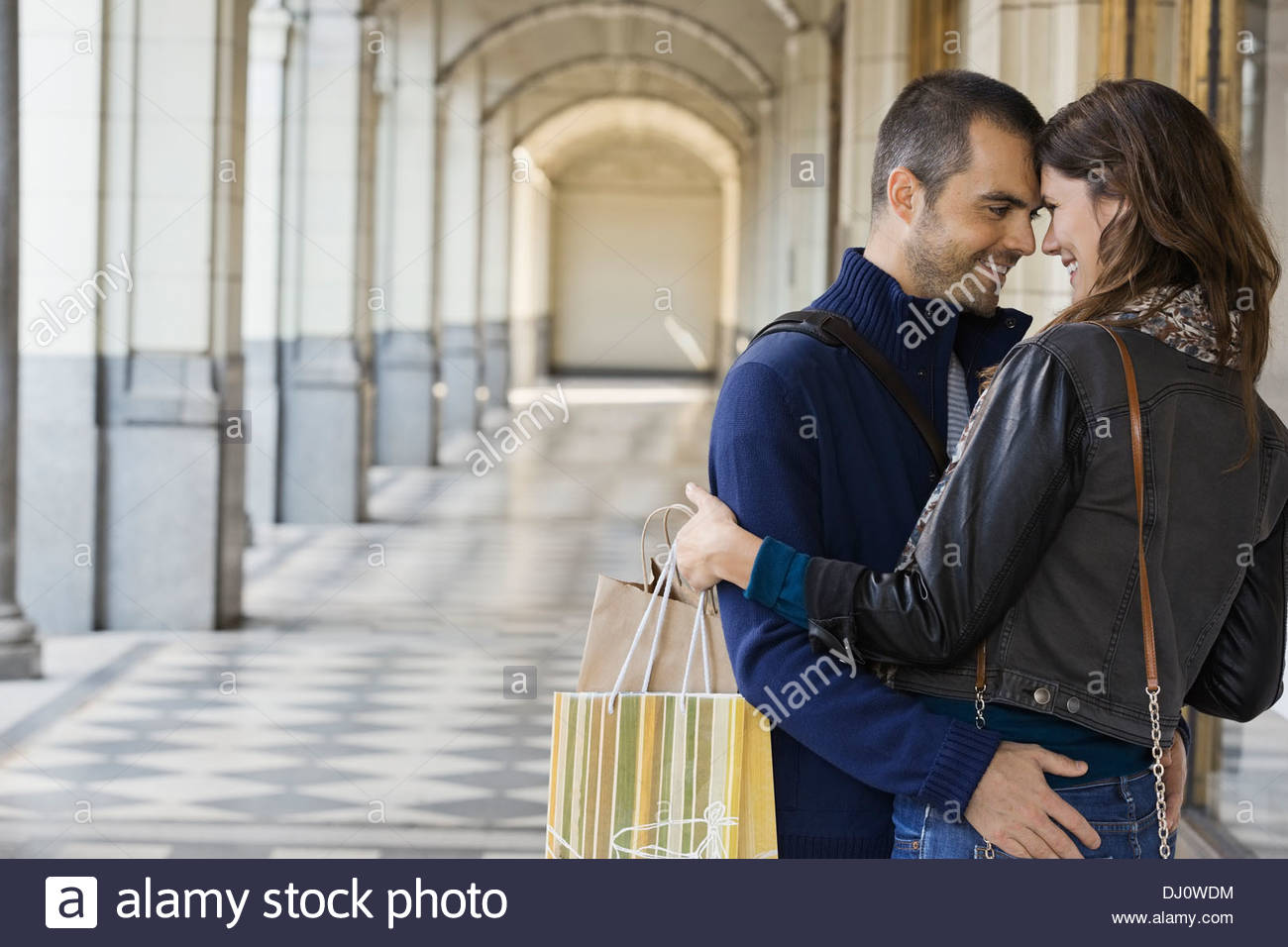 Affectionate couple looking at each other - Stock Image