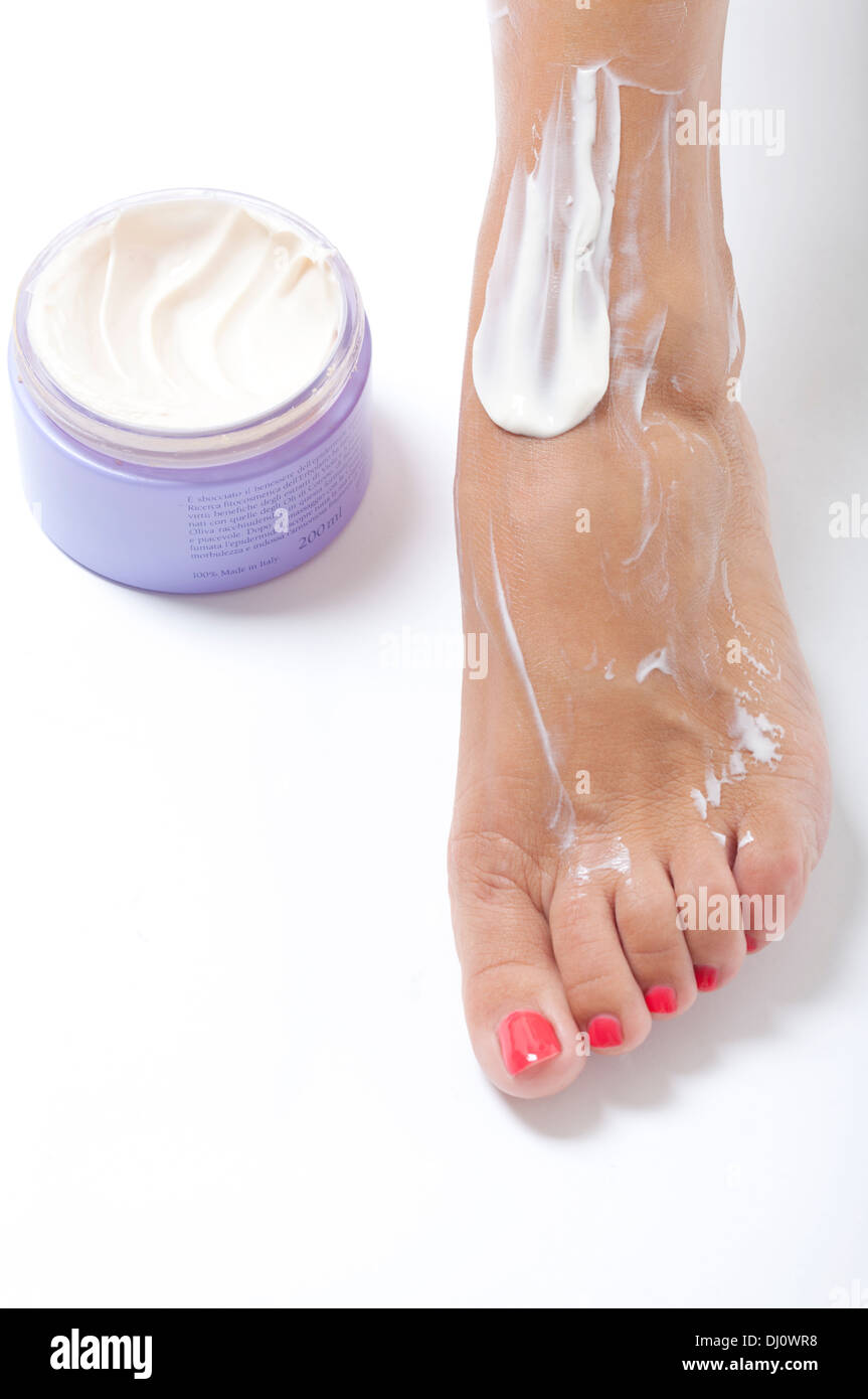 moisturizing lotion for the body - Stock Image