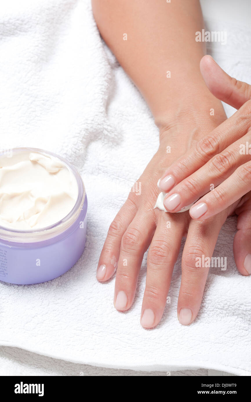 moisturizer for hands - Stock Image