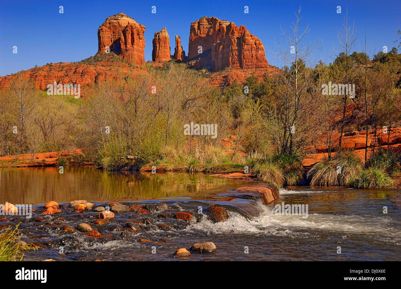 Cathedral Rocks at Red Rocks Park, Sedona, Arizona, USA Stock Photo