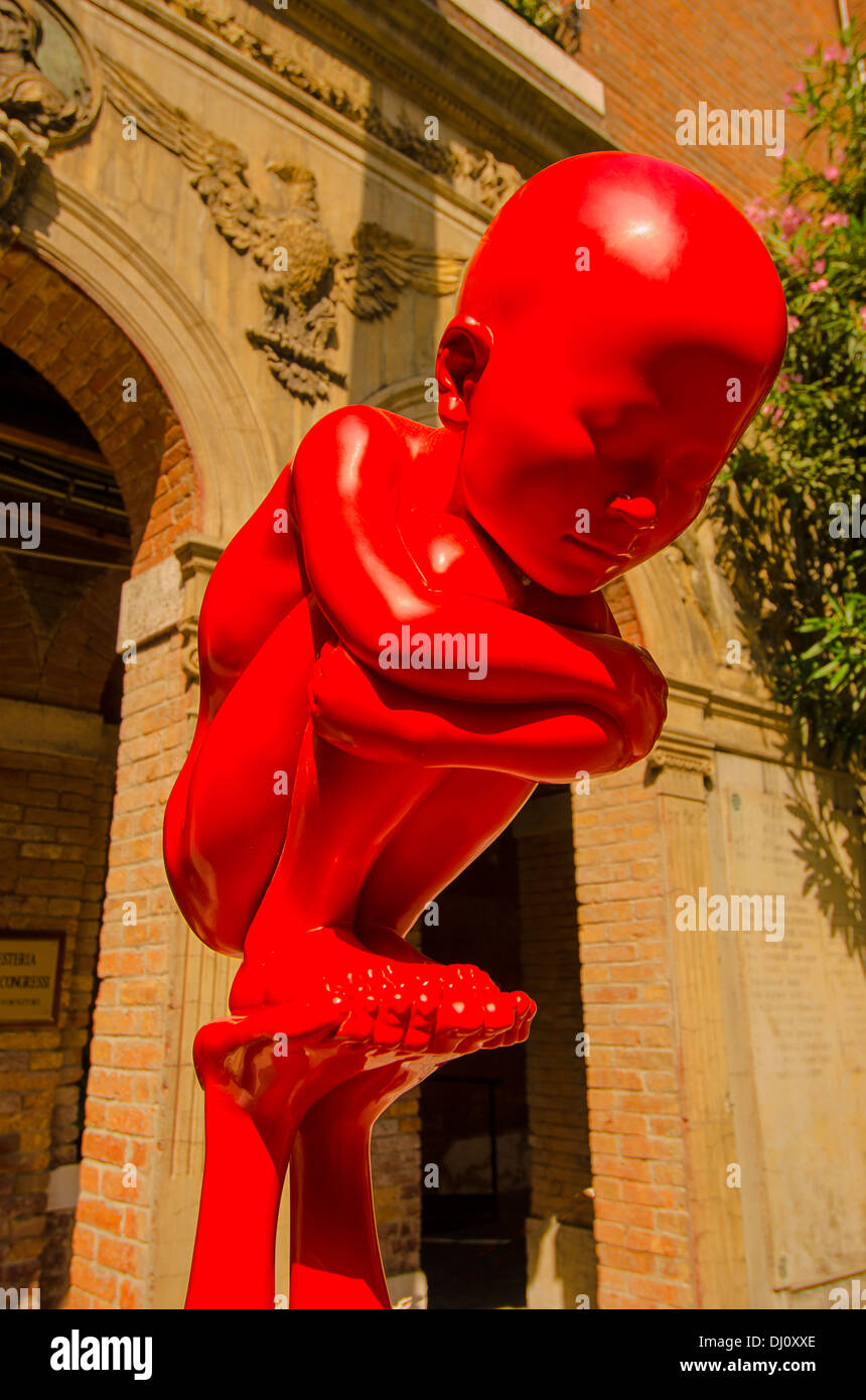 Part of a sculpture at the Biennale 2013 in Venice, Italy - Stock Image