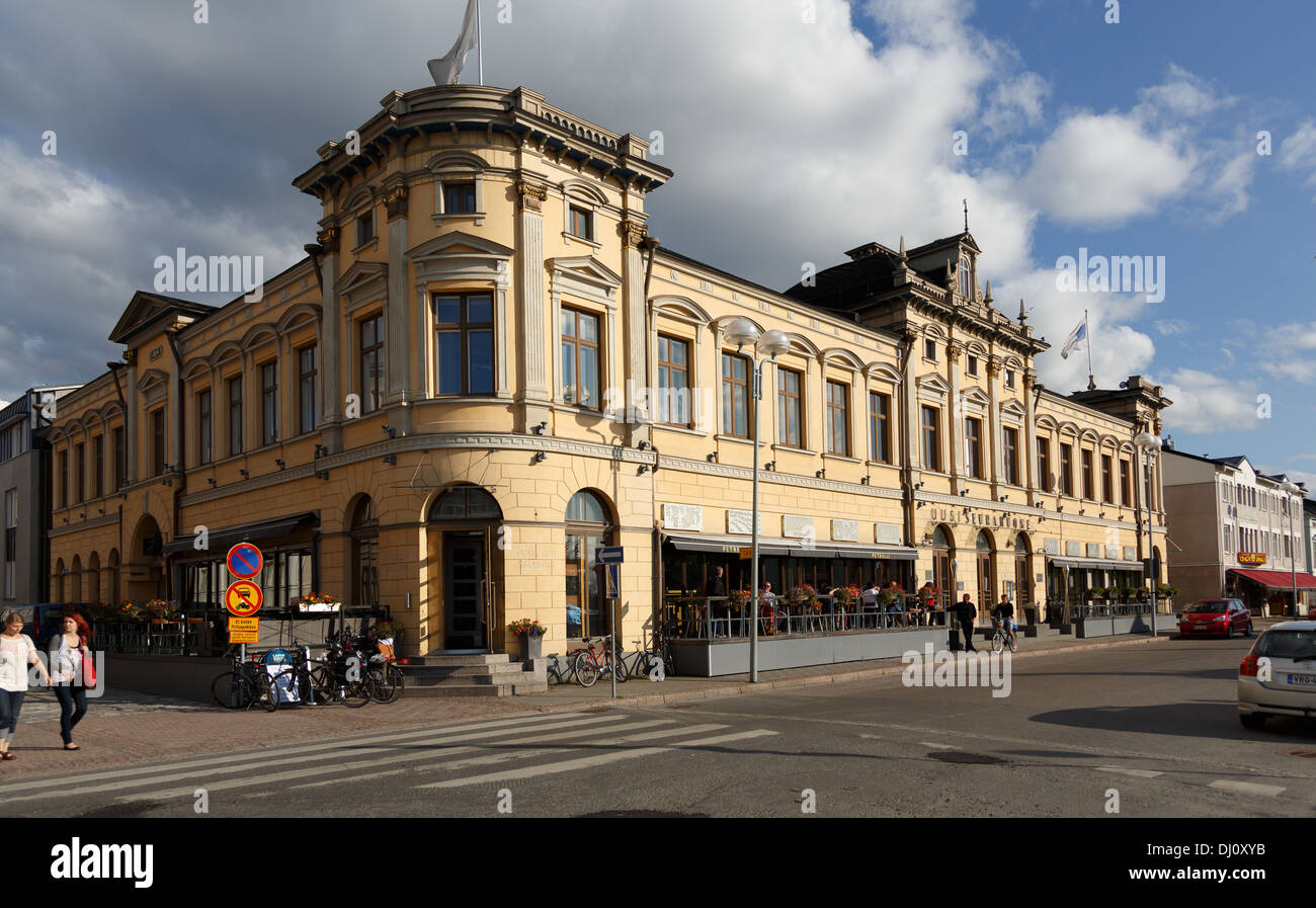 The building of Restaurant Uusi Seurahuone (New Society House) in the City of Oulu in Northern Finland was completed in 1884. - Stock Image