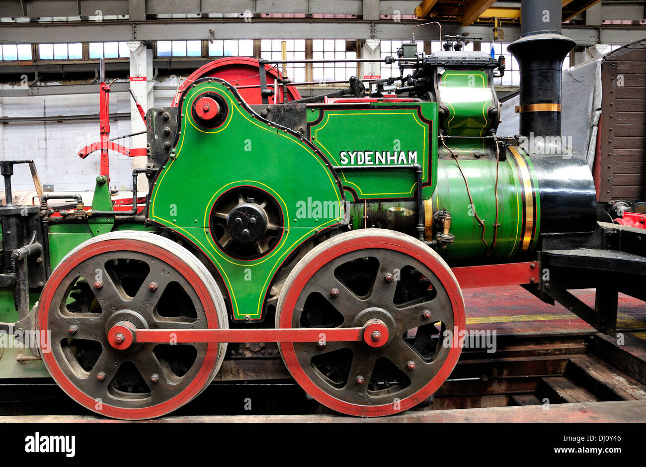 Chatham, Kent, England. Chatham Historic Dockyard. 'SYDENHAM' - Tramway Geared Locomotive (see description) - Stock Image