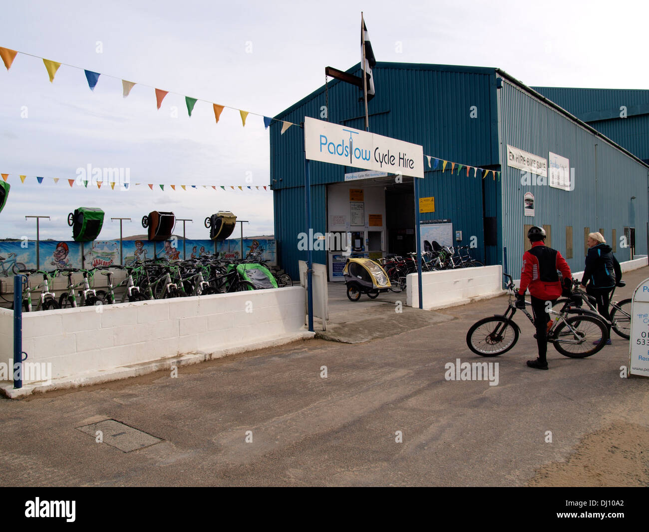 Padstow cycle hire, Cornwall, UK - Stock Image