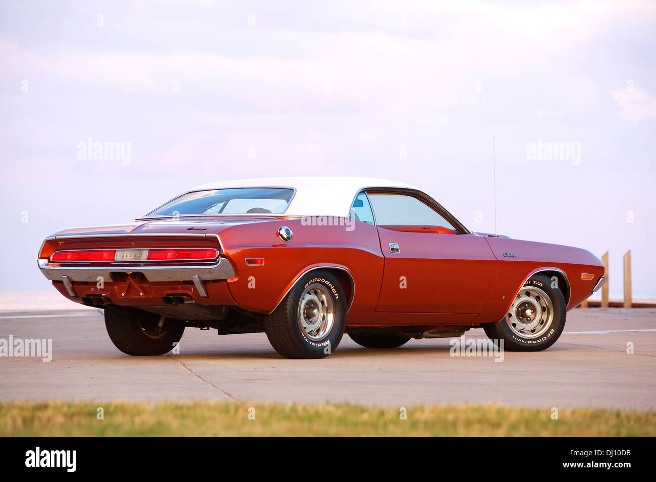 1970 Dodge Challenger Muscle Car Rear 3 4 Stock Photo 62717239 Alamy