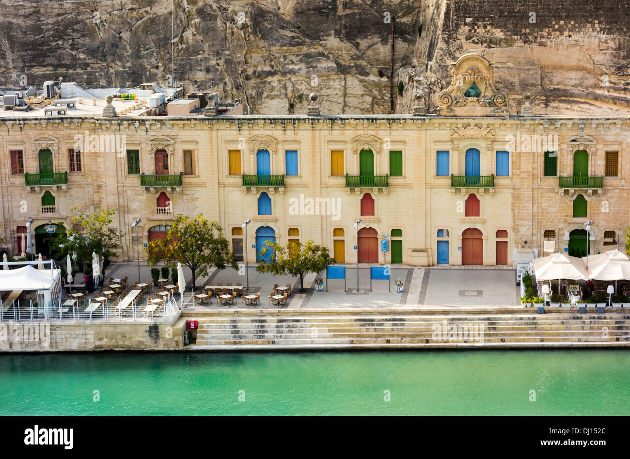 The sights of, overlooking, around and on the Island of Malta: Republic of Malta, Maltese Mediterranean Sea Europe buildings - Stock Image