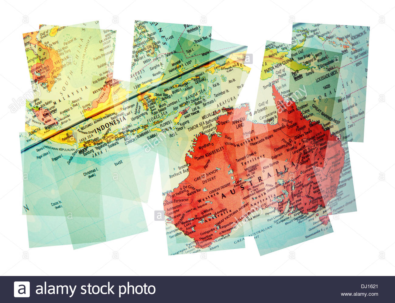 Australia map collage stock photo 62721625 alamy australia map collage gumiabroncs Image collections