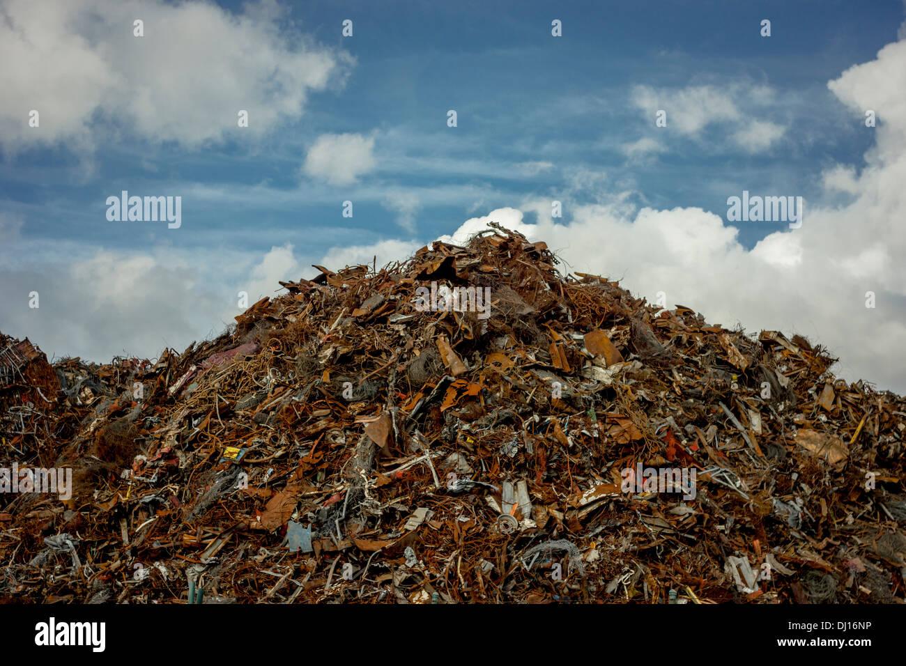 A mountain of scrap metal - Stock Image