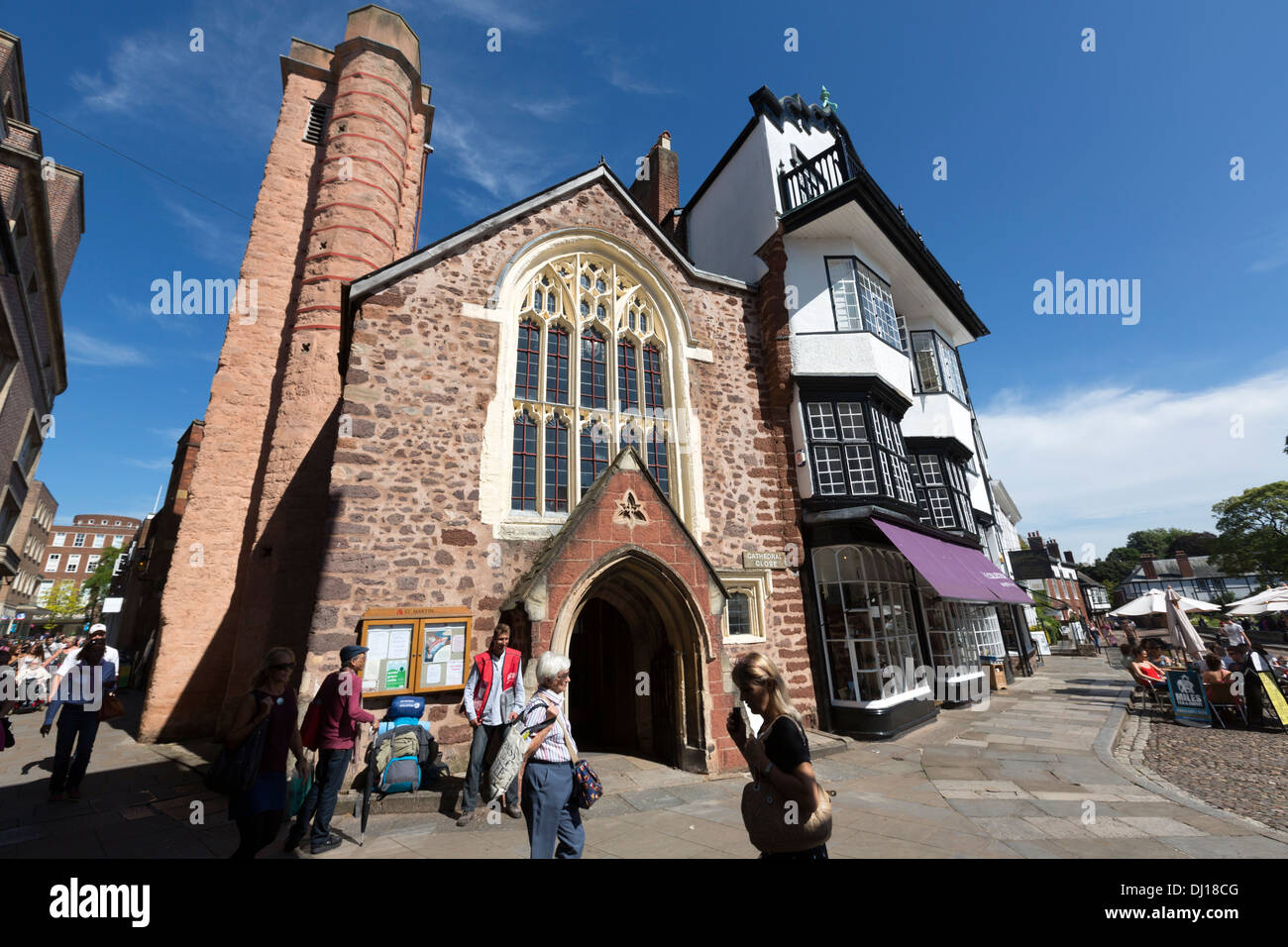 St Martins Church And Mols Coffee House In Exeter Close
