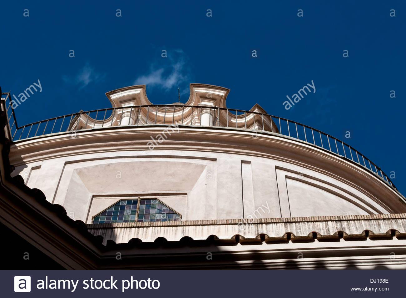 Church of Saint Charles at the Four Fountains -San Carlino alle quattro fontane in Via del Quirinale, Rome, Italy - Stock Image