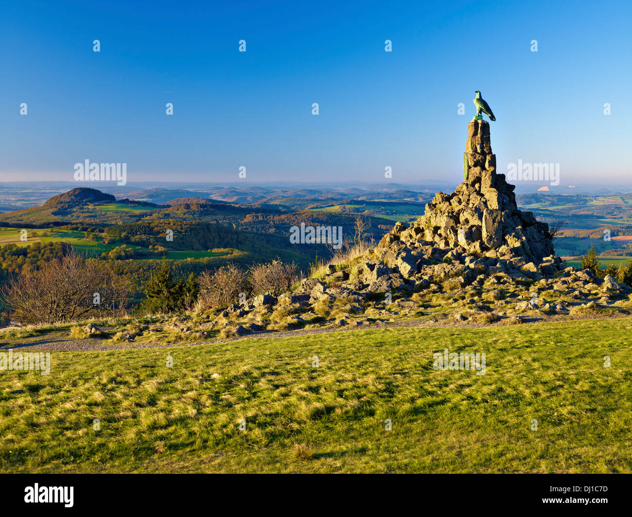 Pilots memorial at the Wasserkuppe, Rhön, Hesse, Germany - Stock Image