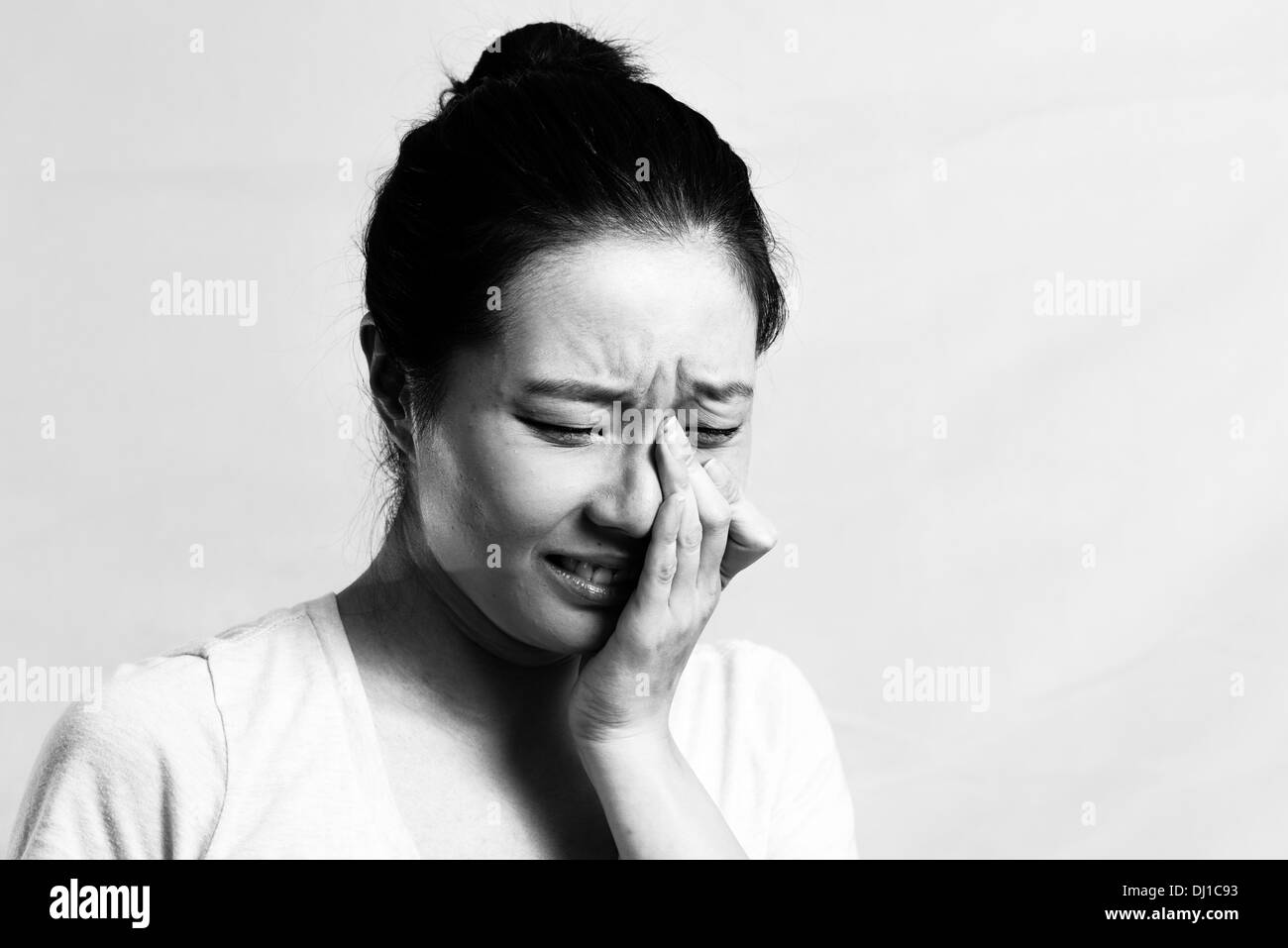 Young Chinese Woman Crying Stock Photos  Young Chinese -7559