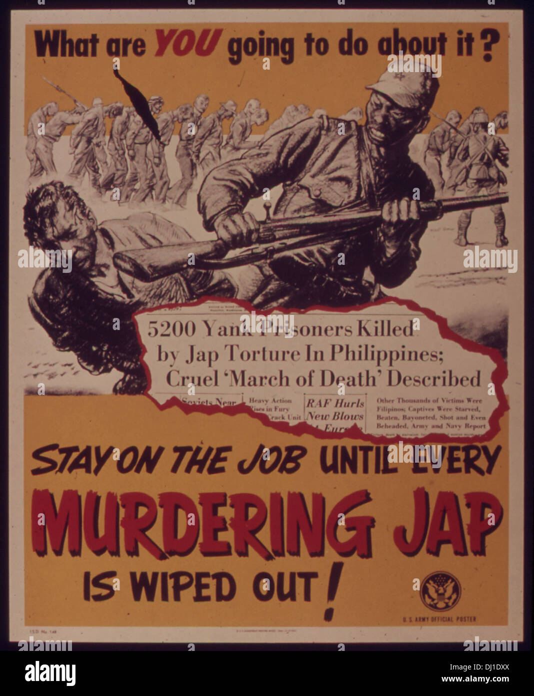 STAY ON THE JOB UNTIL EVERY MURDERING JAP IS WIPED OUT5E 483 - Stock Image