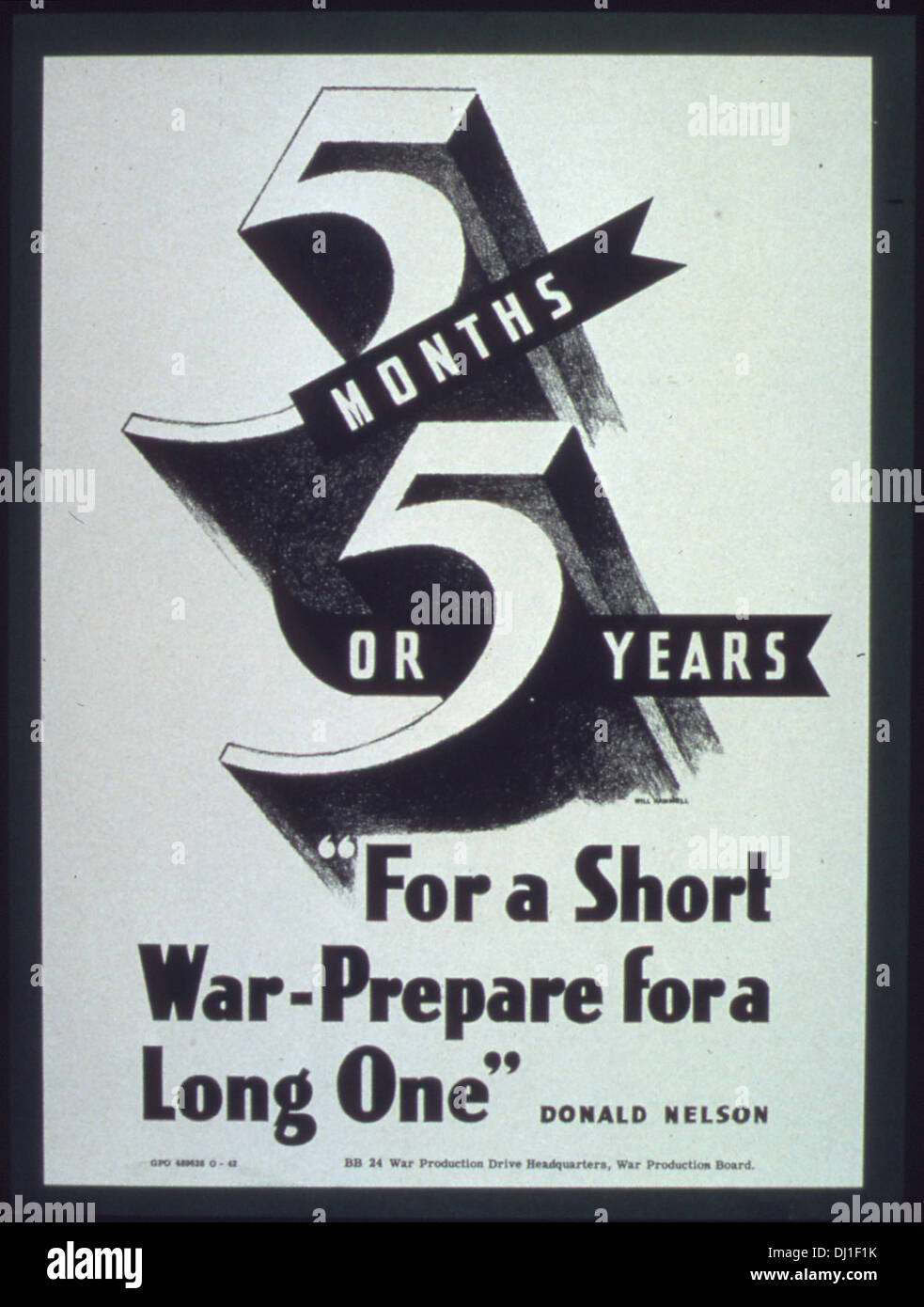 For a Short War Prepare for a Long One 278 - Stock Image