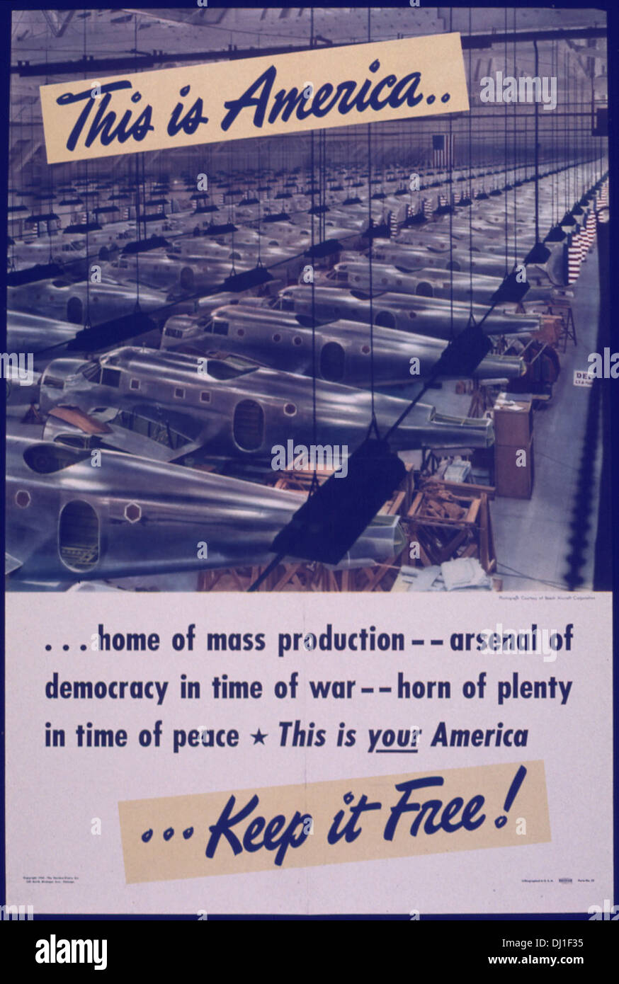THIS IS AMERICA... HOME OF MASS PRODUCTION 737 - Stock Image