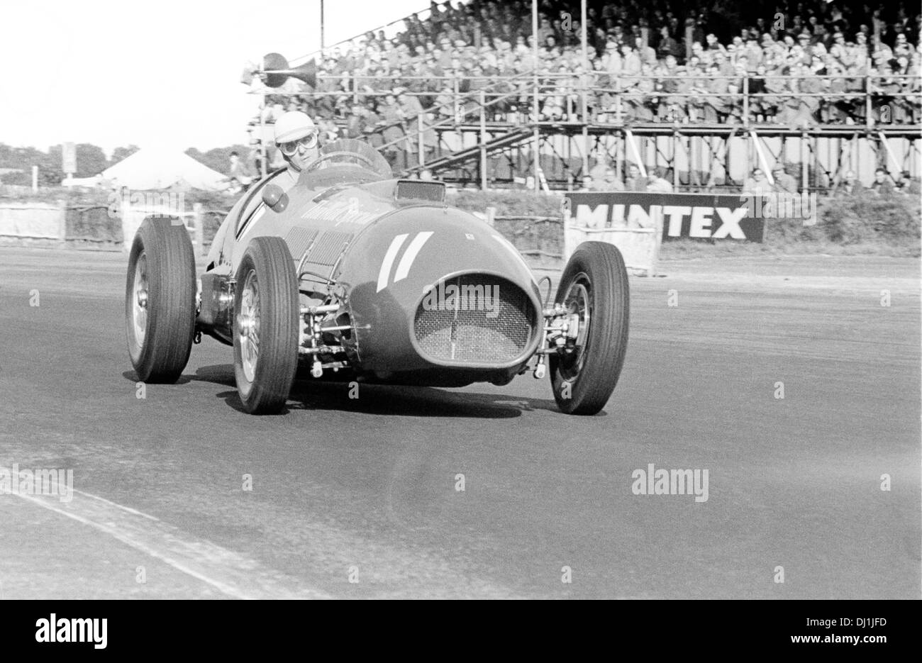 Nino Farina in a Ferrari Thinwall Special in the Formule Libre race at British GP meeting, Silverstone, England 18 July 1953. - Stock Image