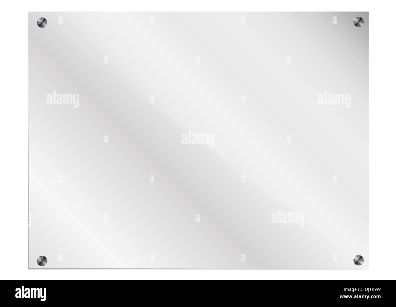 Glass Frame with bolts on white background Stock Photo: 62732037 - Alamy
