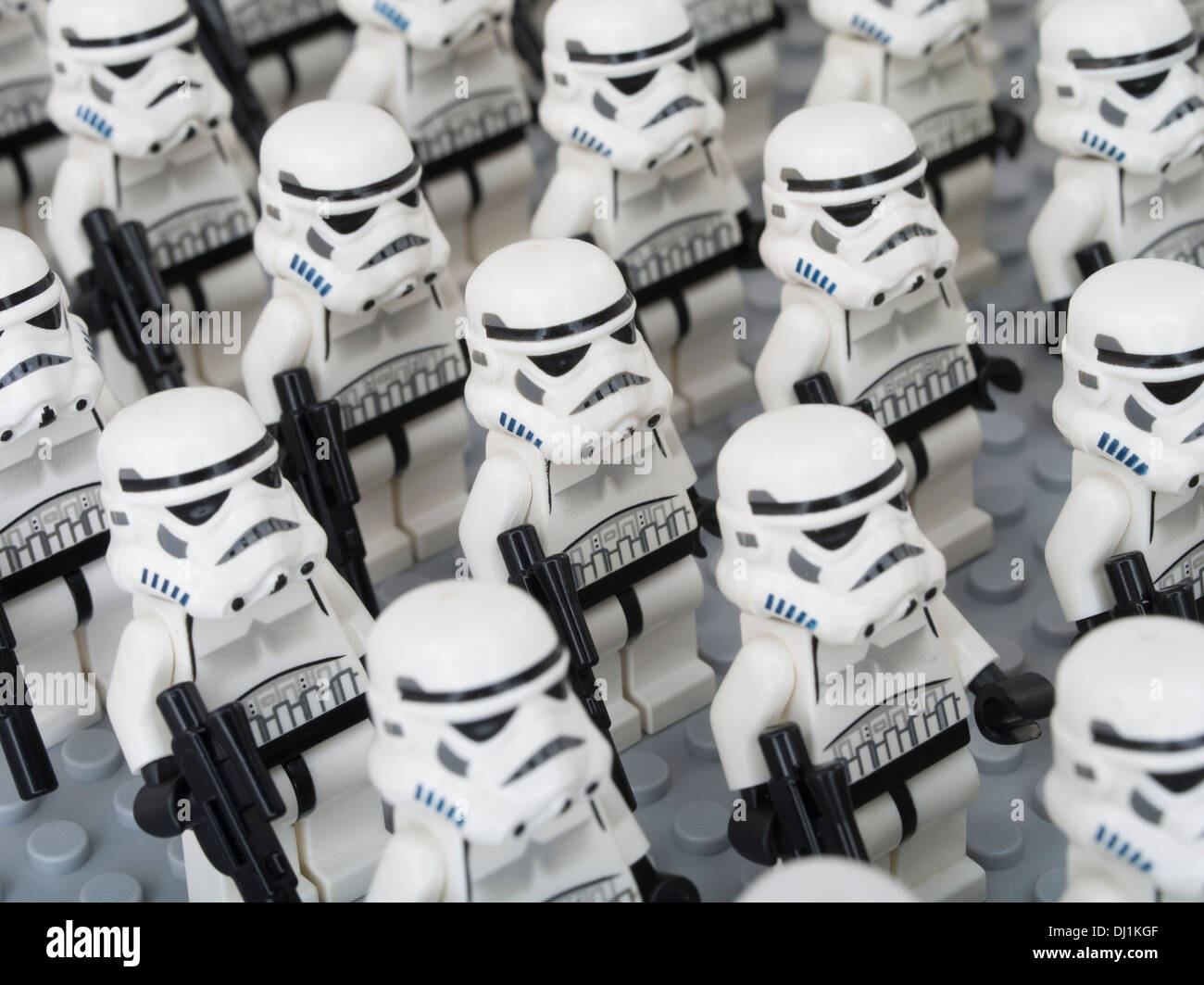 Lego Star Wars Minifigure  Storm Troopers ( clone soldiers ) - Stock Image