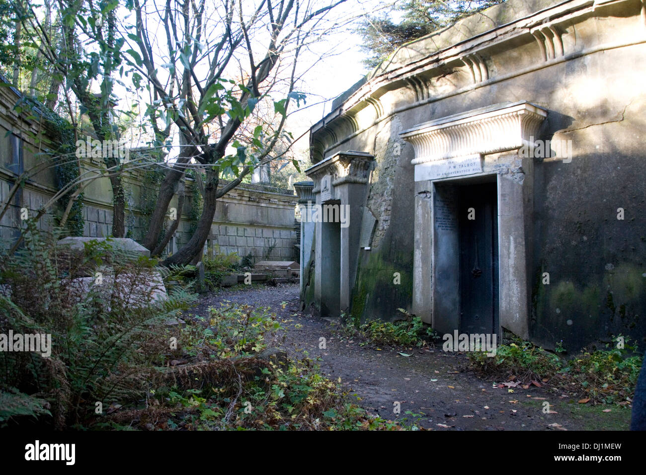 Catacombs at Highgate cemetery - Stock Image