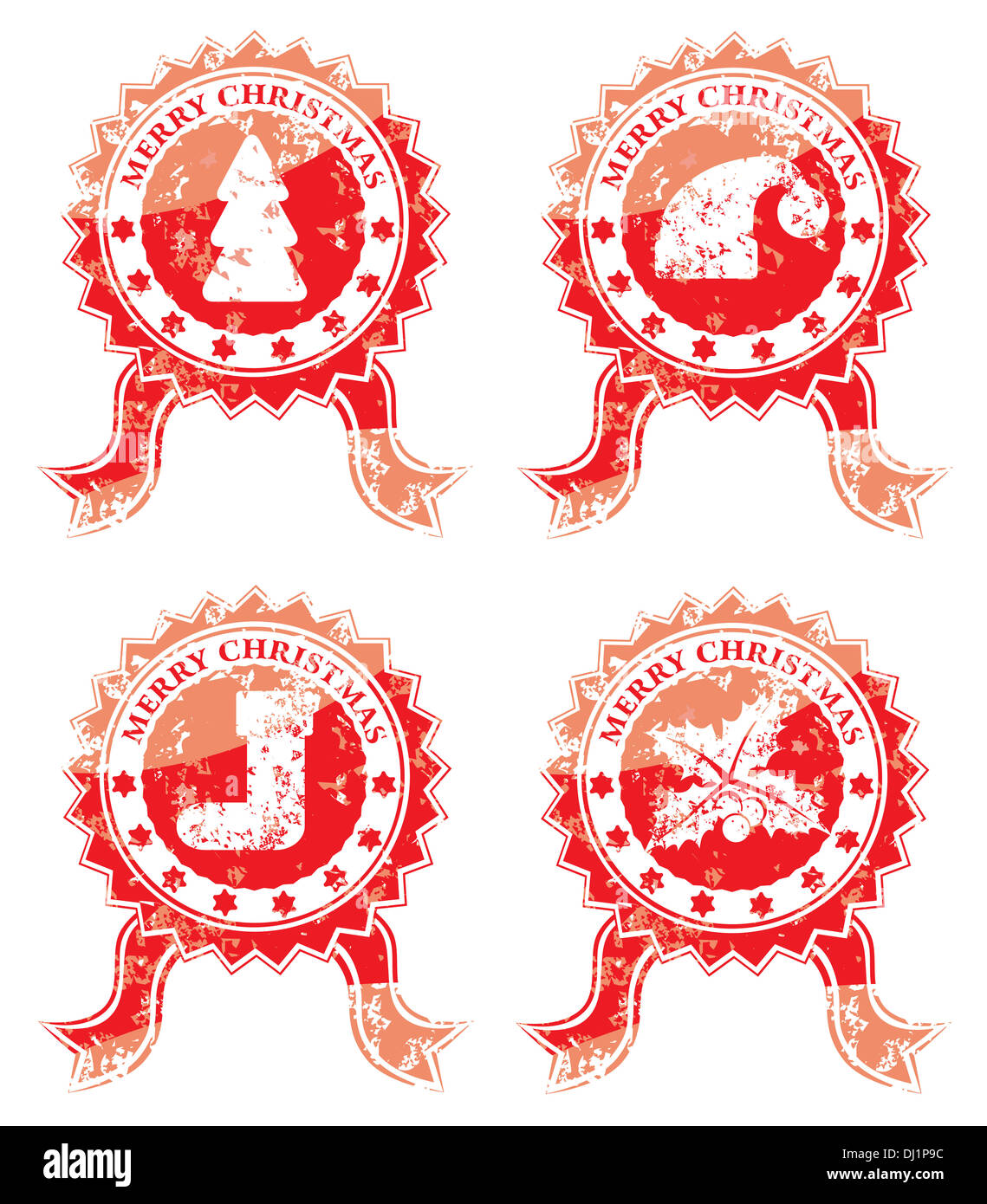 Merry christmas stamp isolated on white Stock Photo: 62734376 - Alamy