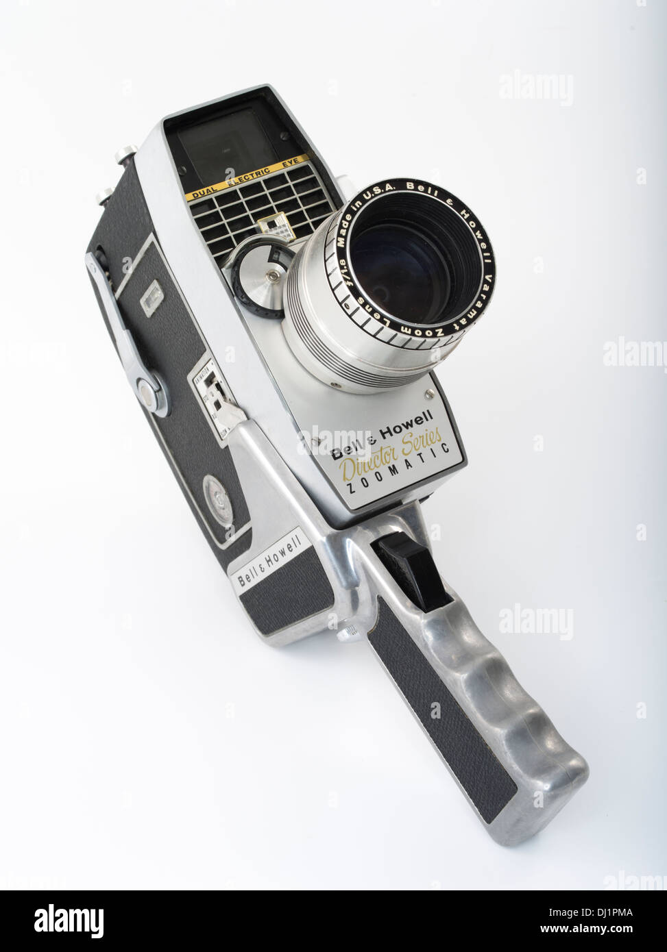 Bell & Howell Model 414PD Director Series Zoomatic 8mm Film Camera as used in ZAPRUDER film of assassination of JFK - Stock Image
